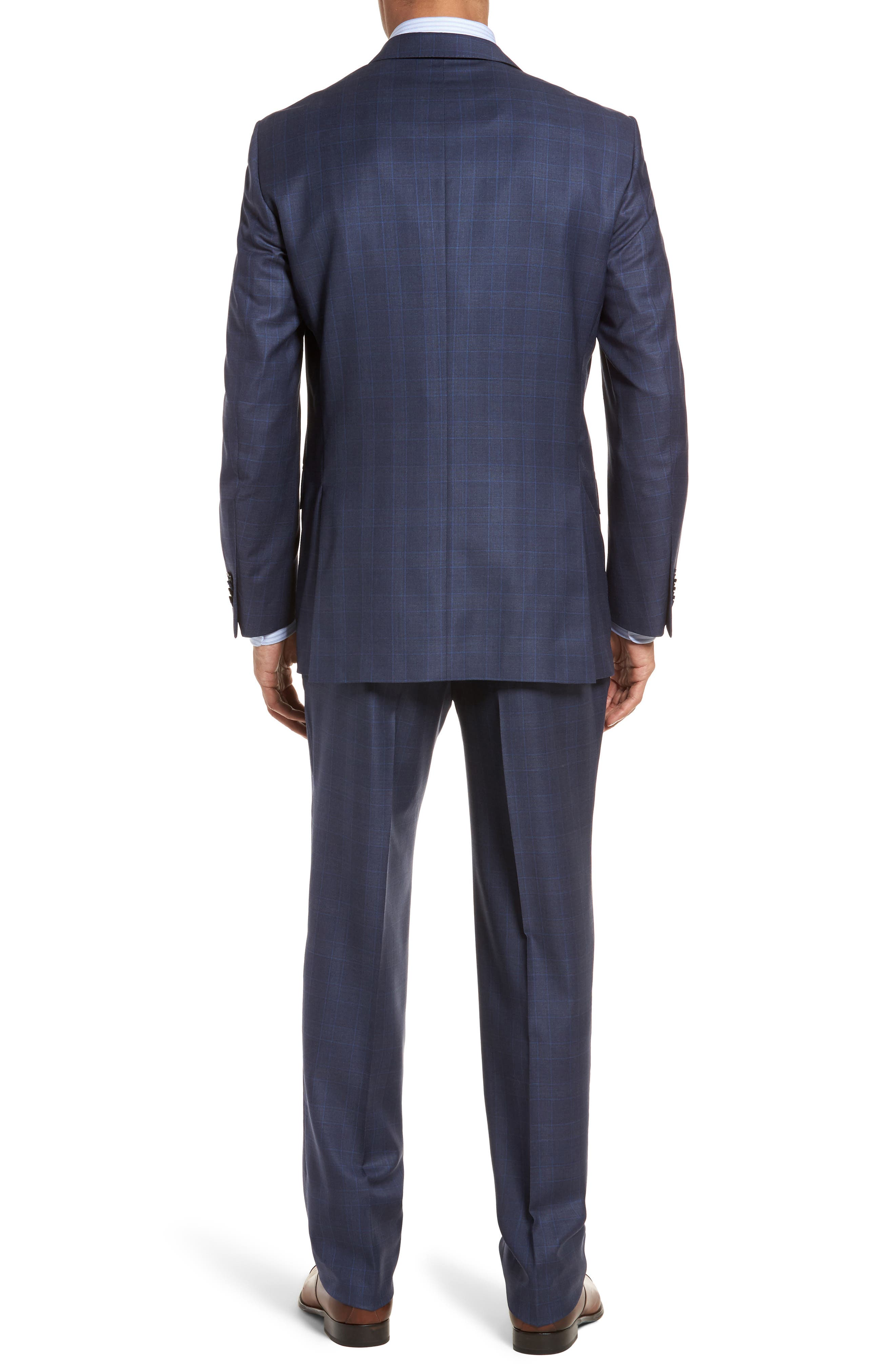 Classic Fit Windowpane Wool Suit,                             Alternate thumbnail 2, color,                             400