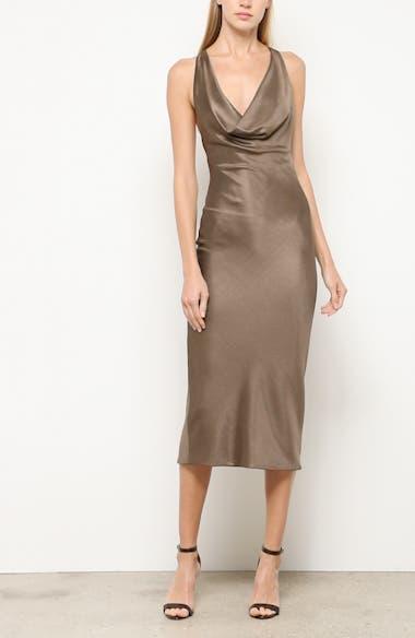 Cowl Neck Sheath Dress, video thumbnail