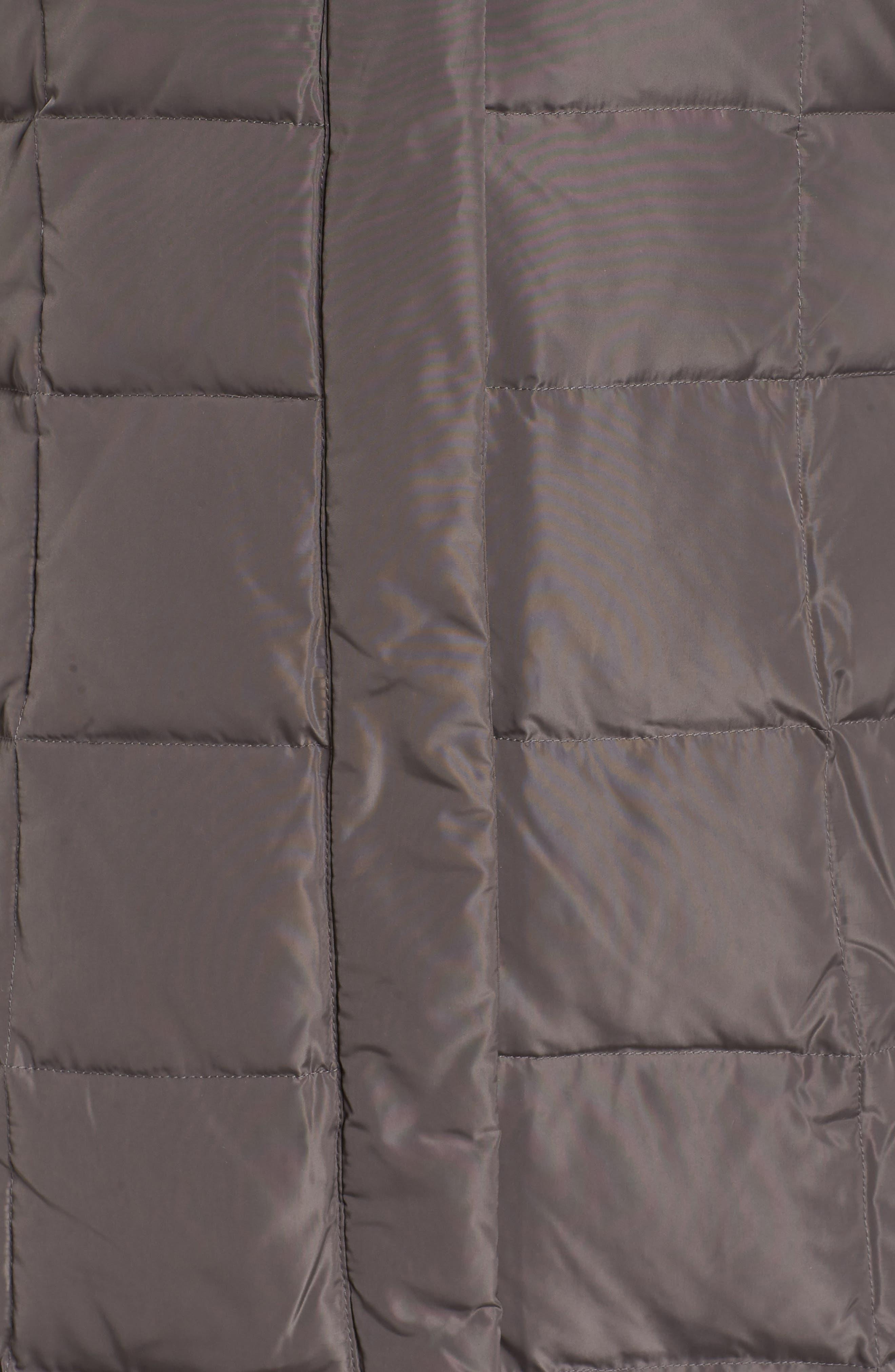 Bib Inset Coat,                             Alternate thumbnail 7, color,                             CARBON