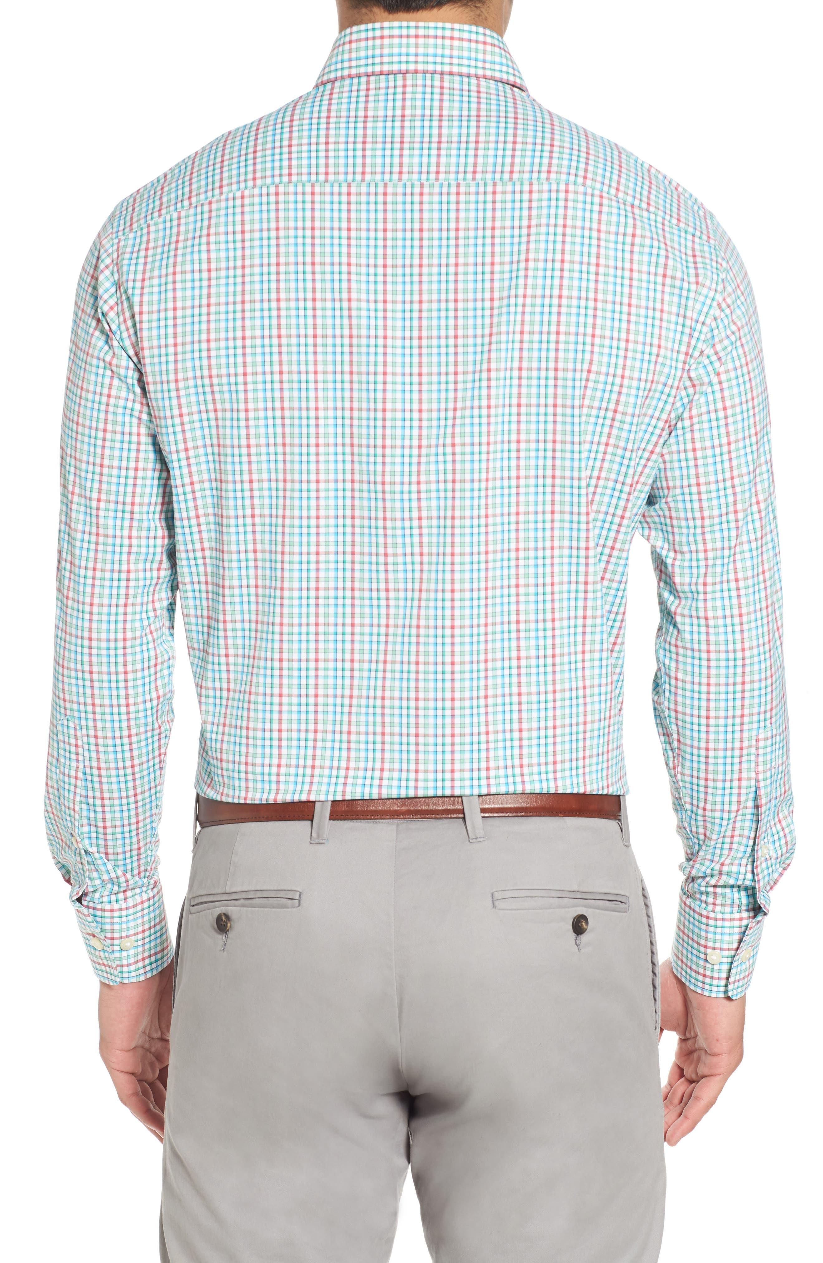 Gunn Regular Fit Tattersall Sport Shirt,                             Alternate thumbnail 2, color,                             100