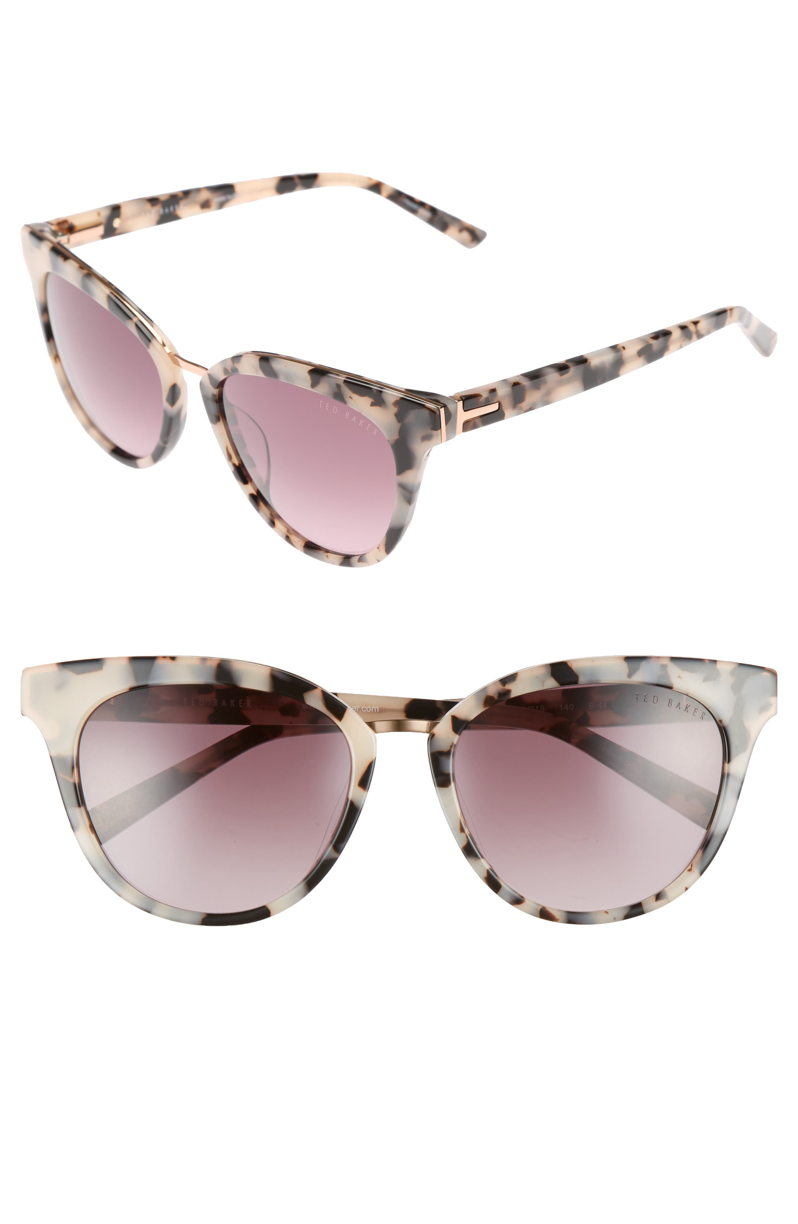 53mm Cat Eye Sunglasses,                             Main thumbnail 1, color,                             IVORY