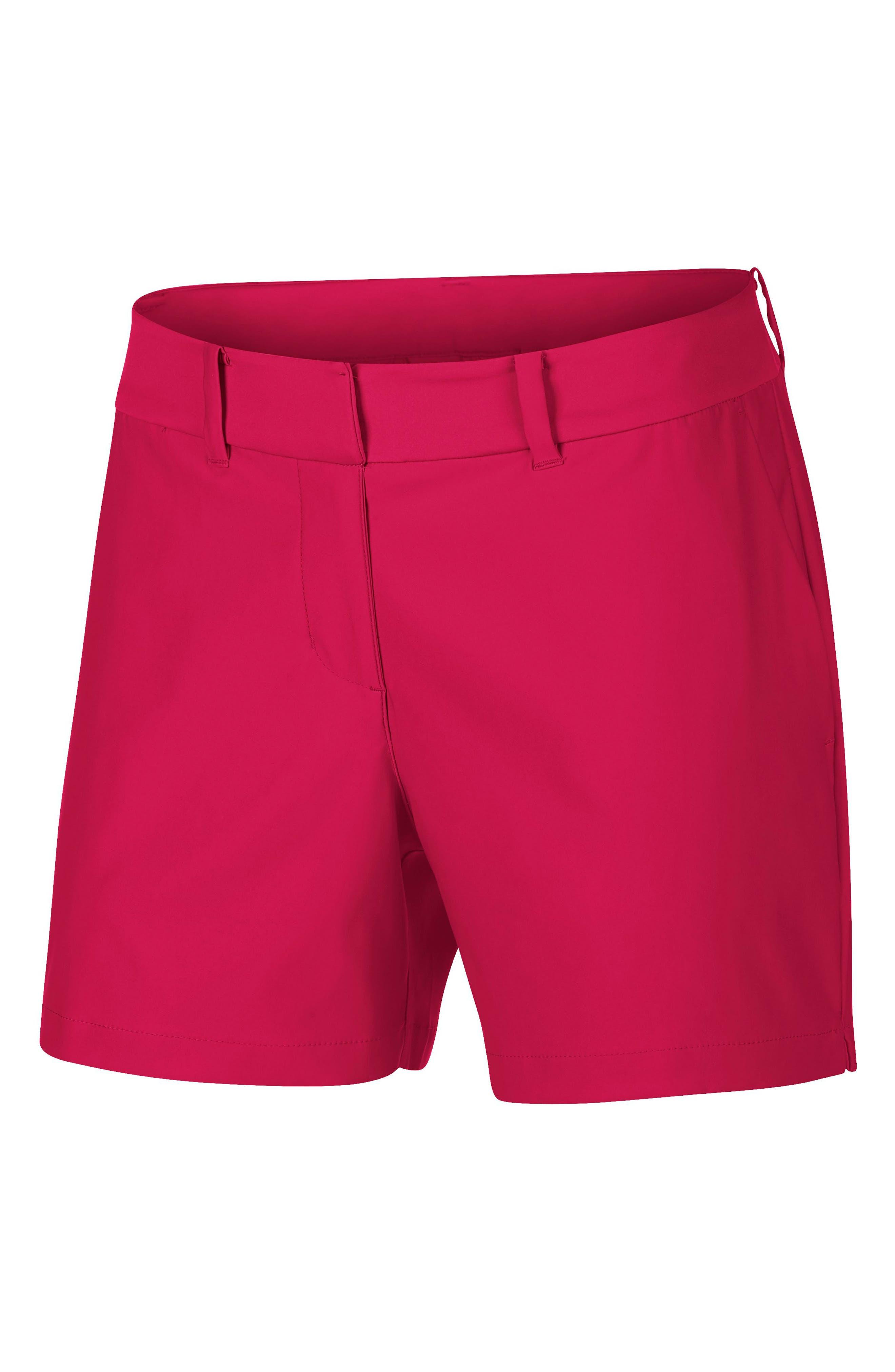 Flex Golf Shorts,                             Main thumbnail 1, color,                             RUSH PINK/ RUSH PINK