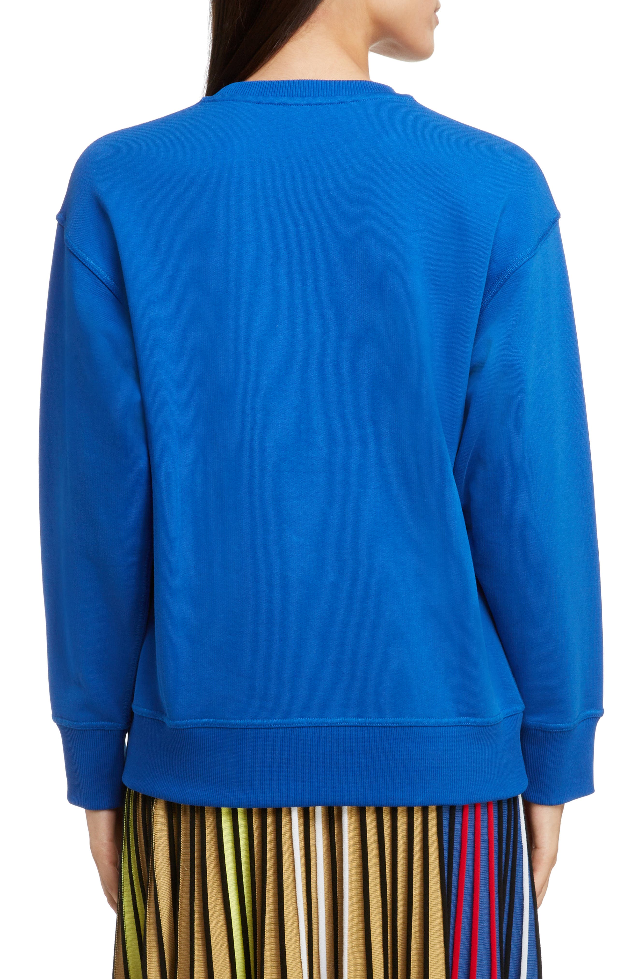 Bicolor Embroidered Tiger Sweatshirt,                             Alternate thumbnail 2, color,                             FRENCH BLUE