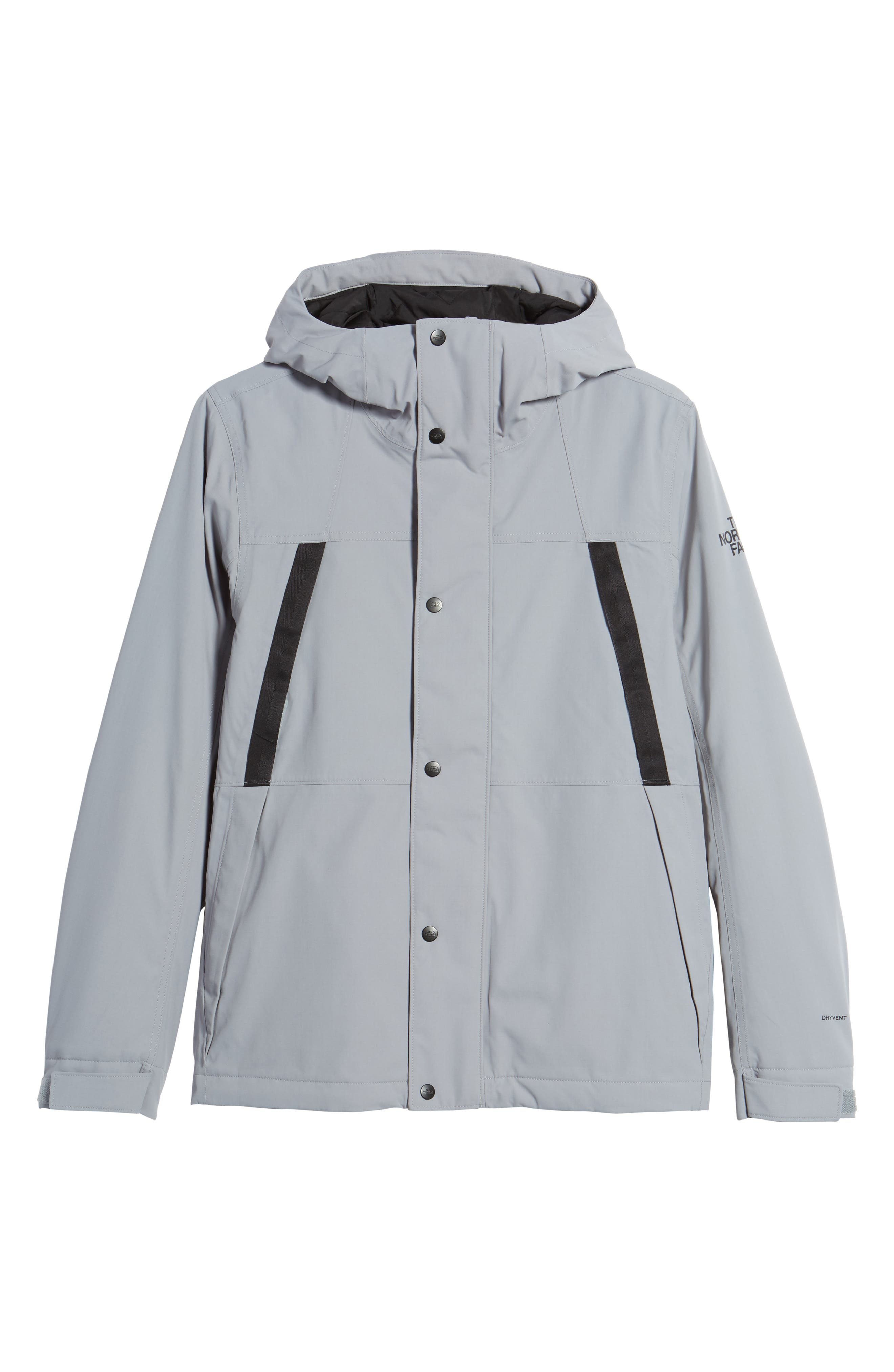 Stetler Insulated Rain Jacket,                             Alternate thumbnail 5, color,                             MID GREY