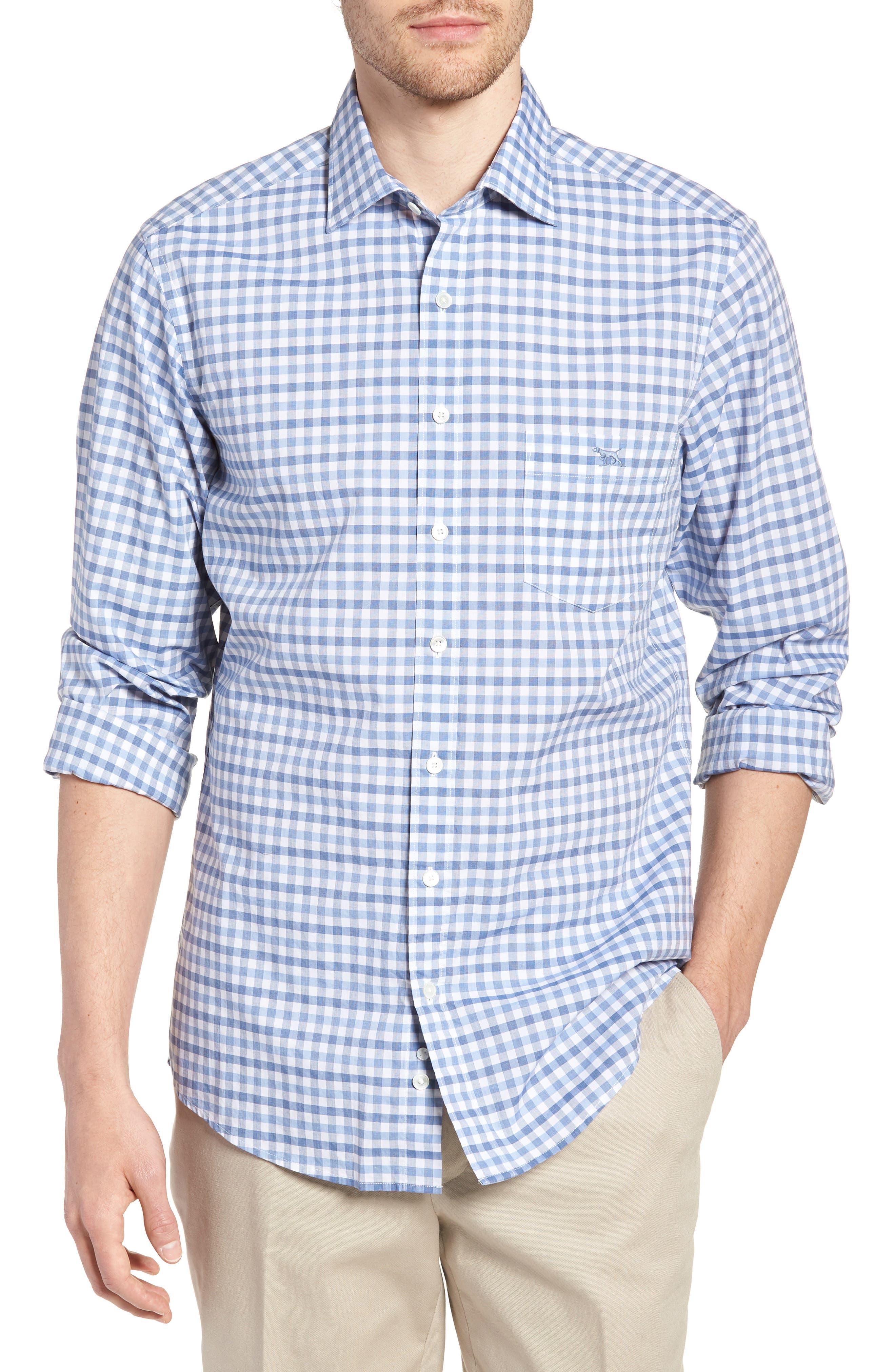 Shorecliffe Regular Fit Gingham Sport Shirt,                         Main,                         color, 414