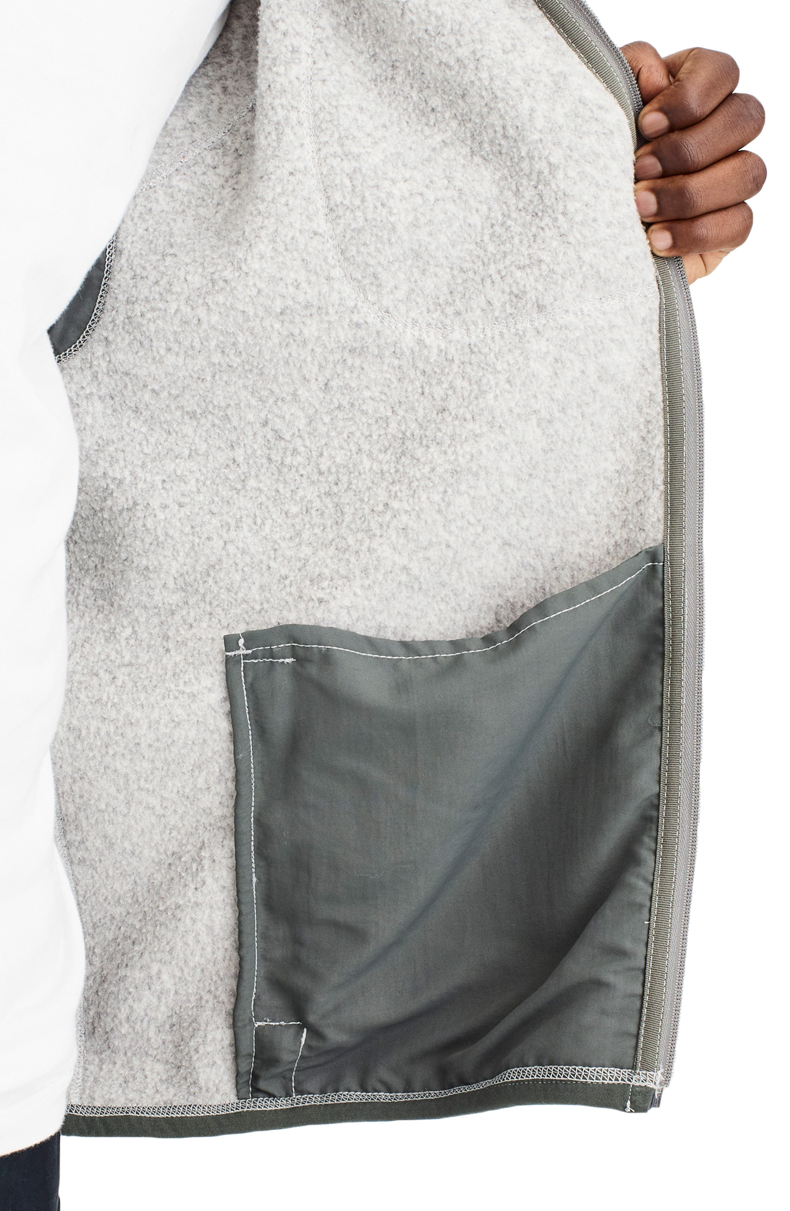 Classic Fit Fleece Sweater Jacket,                             Alternate thumbnail 4, color,                             LIGHT GREY