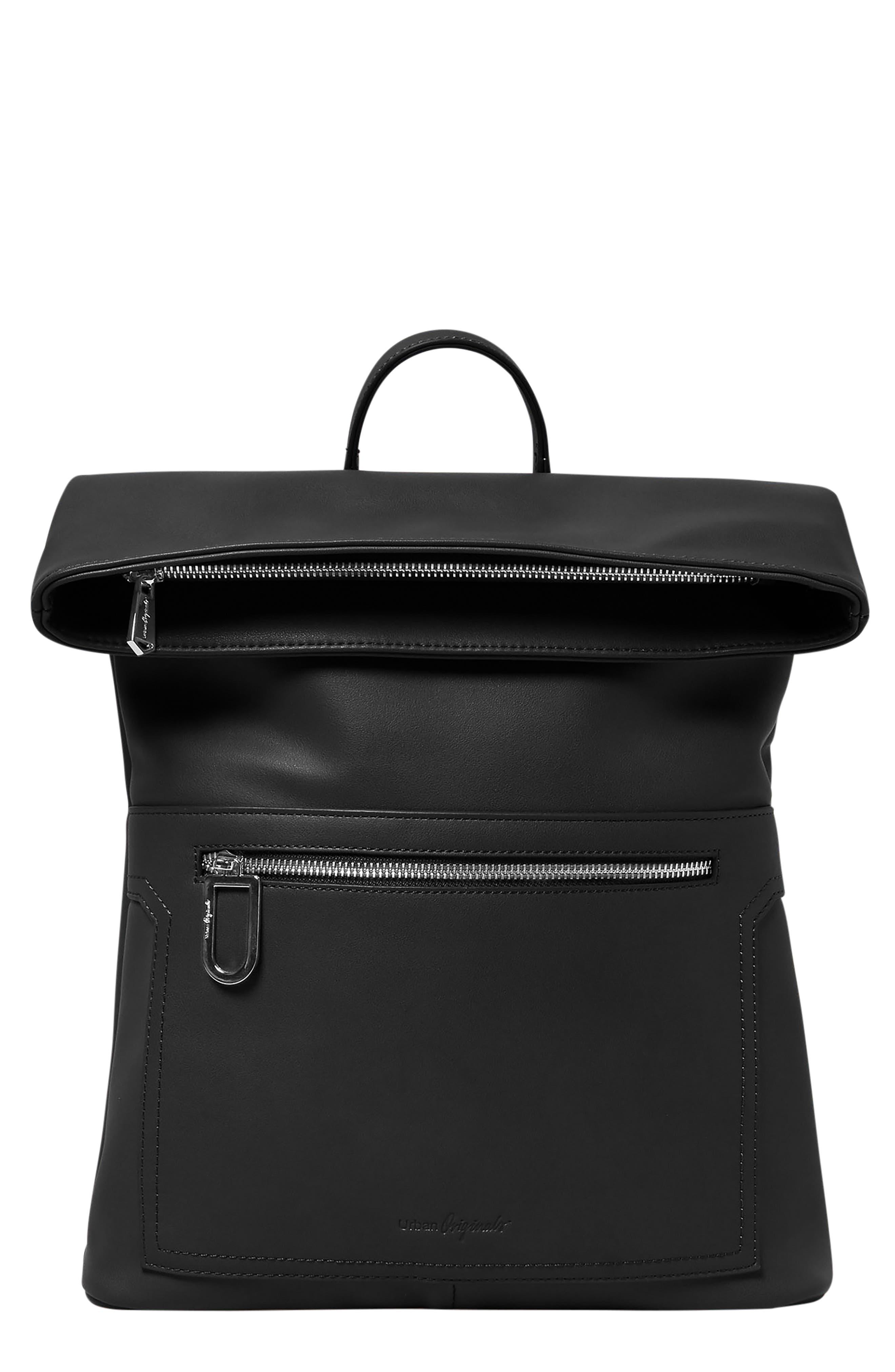 Sincerely Vegan Leather Backpack - Black