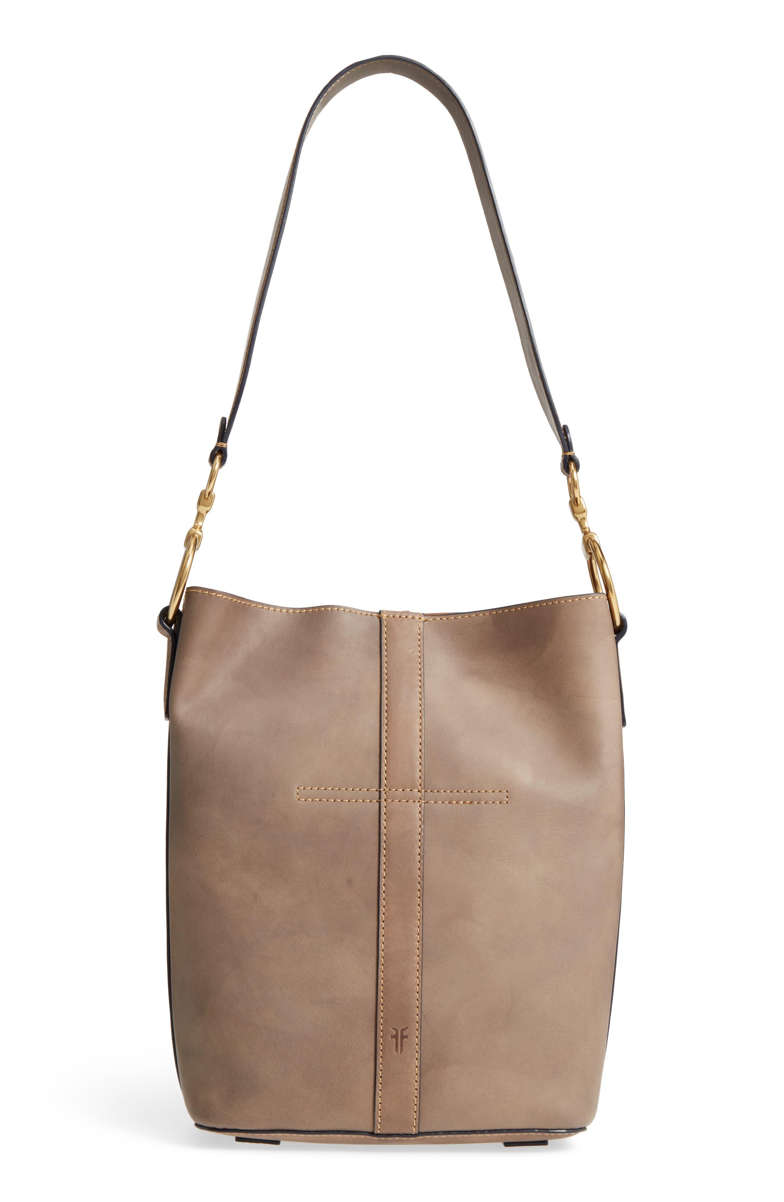 Ilana Leather Bucket Bag,                             Alternate thumbnail 3, color,                             030