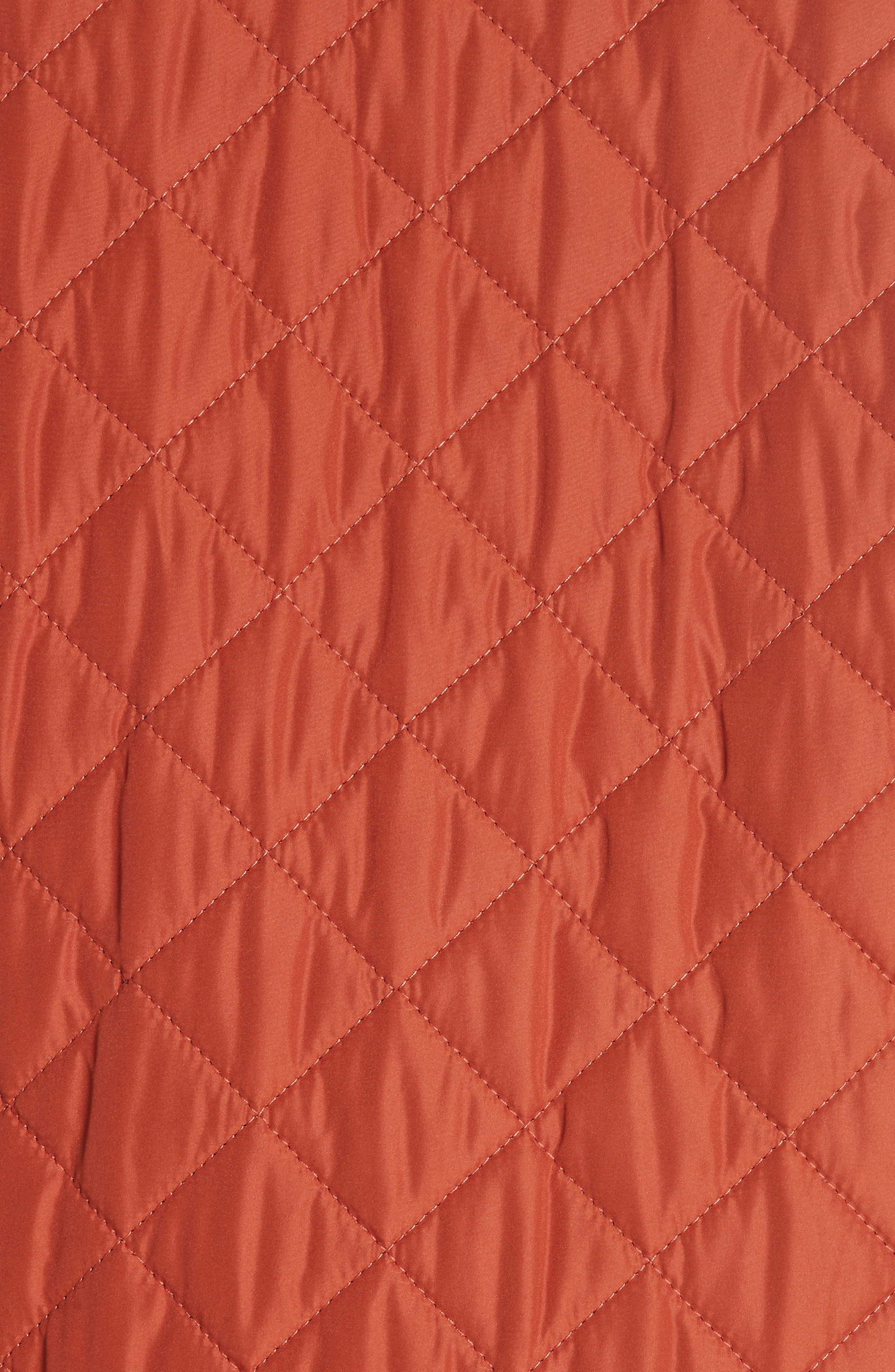Waistcoat Tech Quilted Vest,                             Alternate thumbnail 6, color,                             BRIGHT TAMERIND