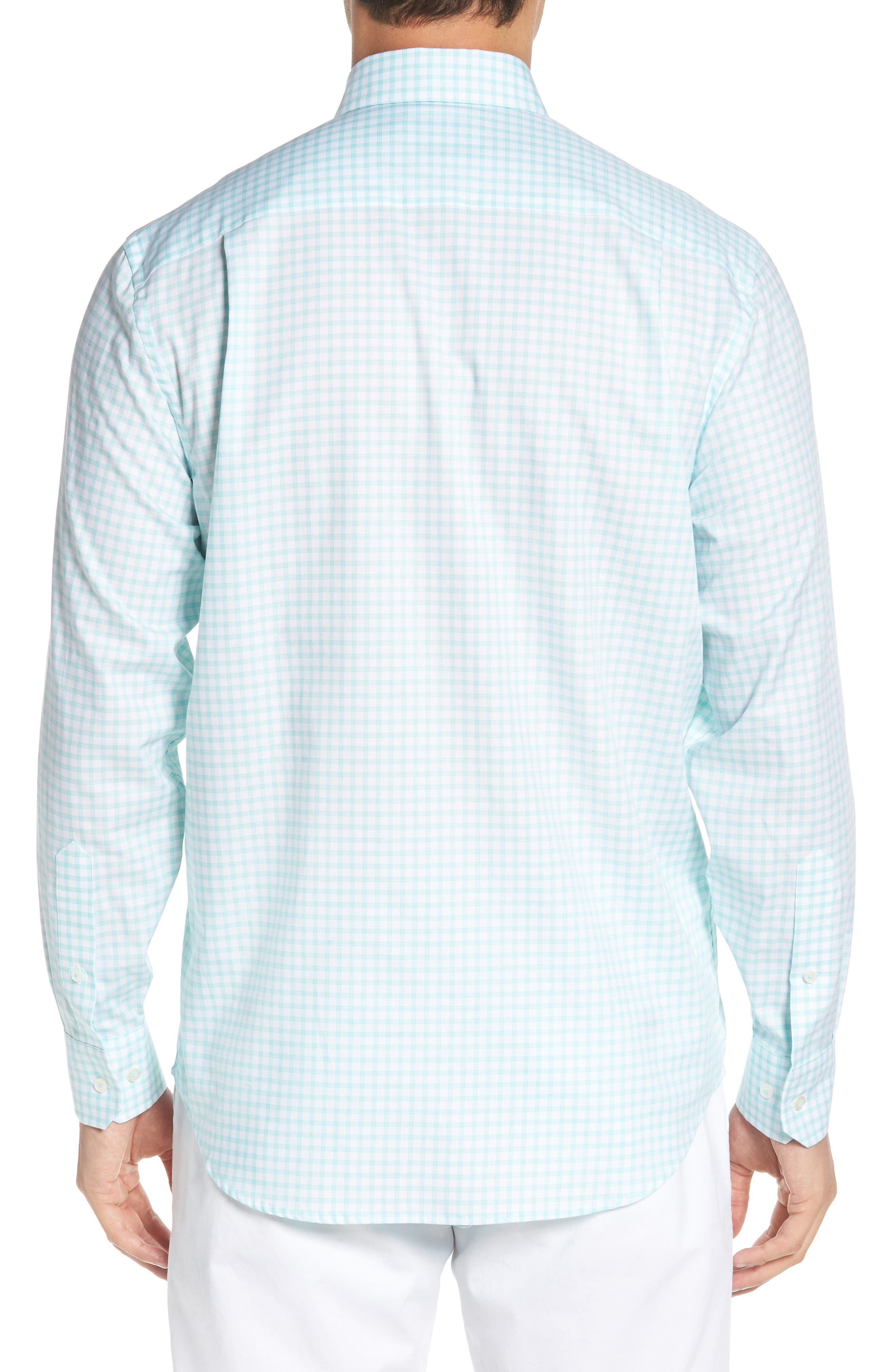 Like Oak Regular Fit Check Sport Shirt,                             Alternate thumbnail 2, color,                             MINT