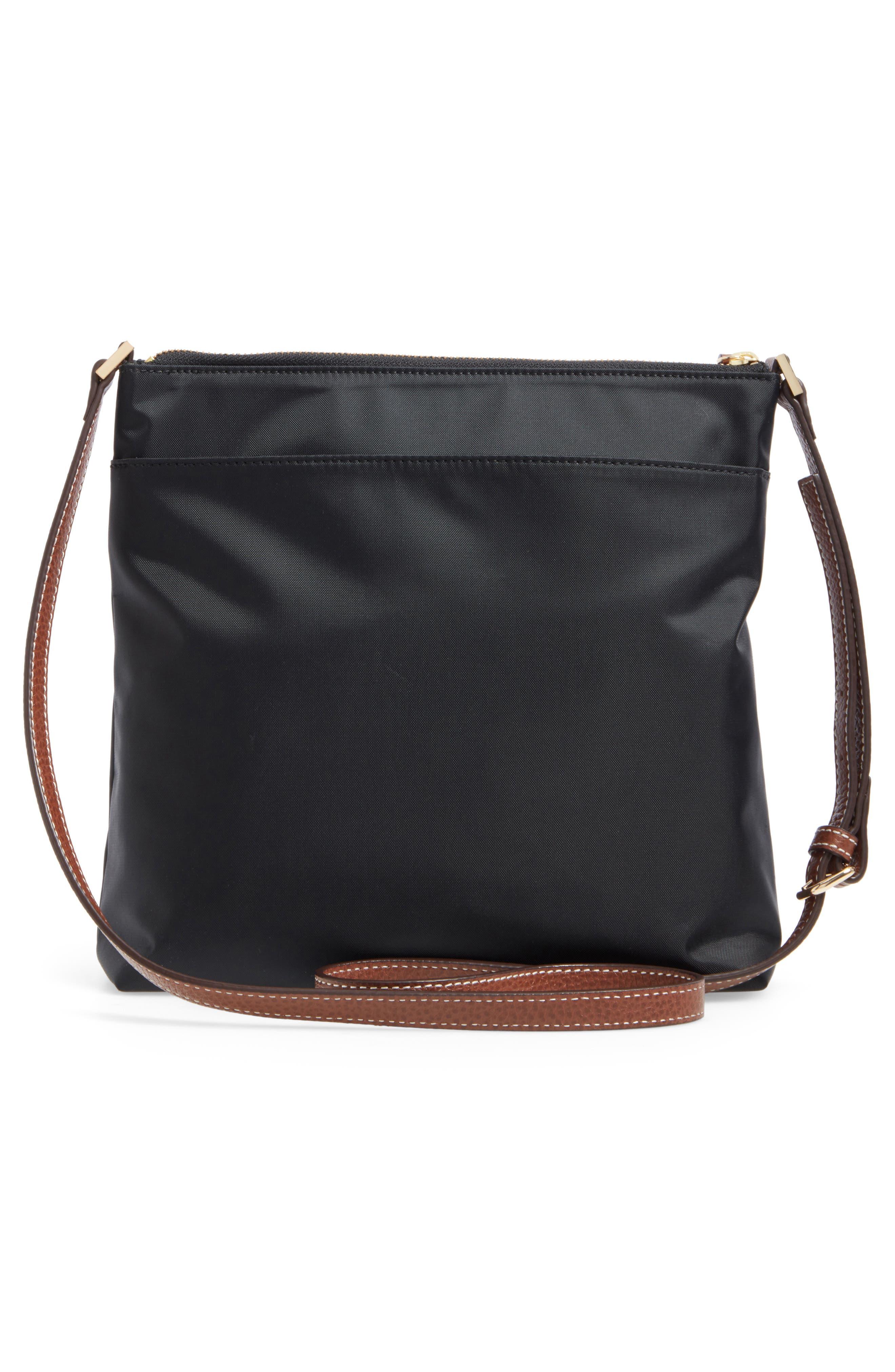 Halogen Nylon Crossbody Bag,                             Alternate thumbnail 3, color,                             001