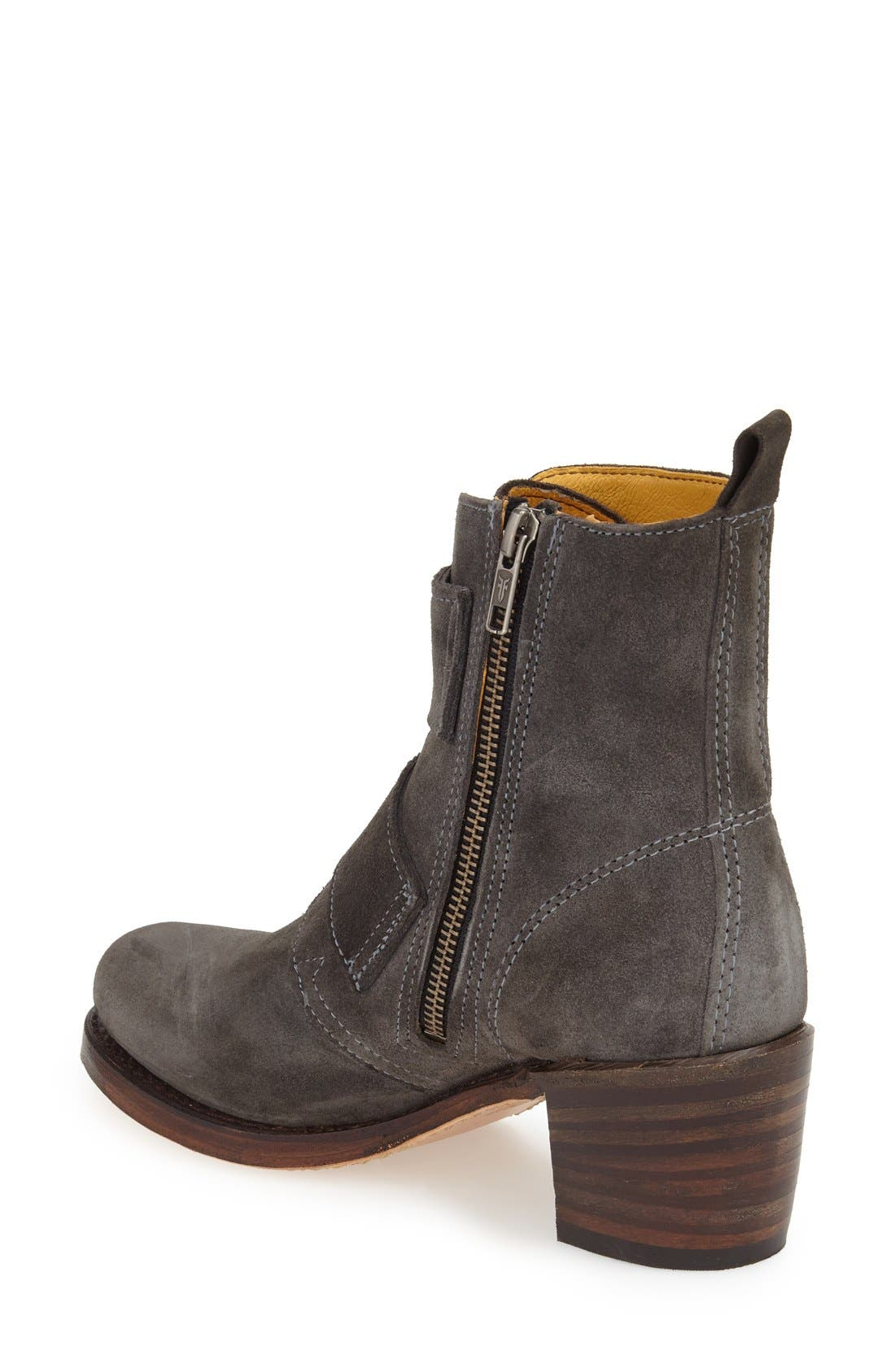 'Sabrina' Double Buckle Boot,                             Alternate thumbnail 6, color,