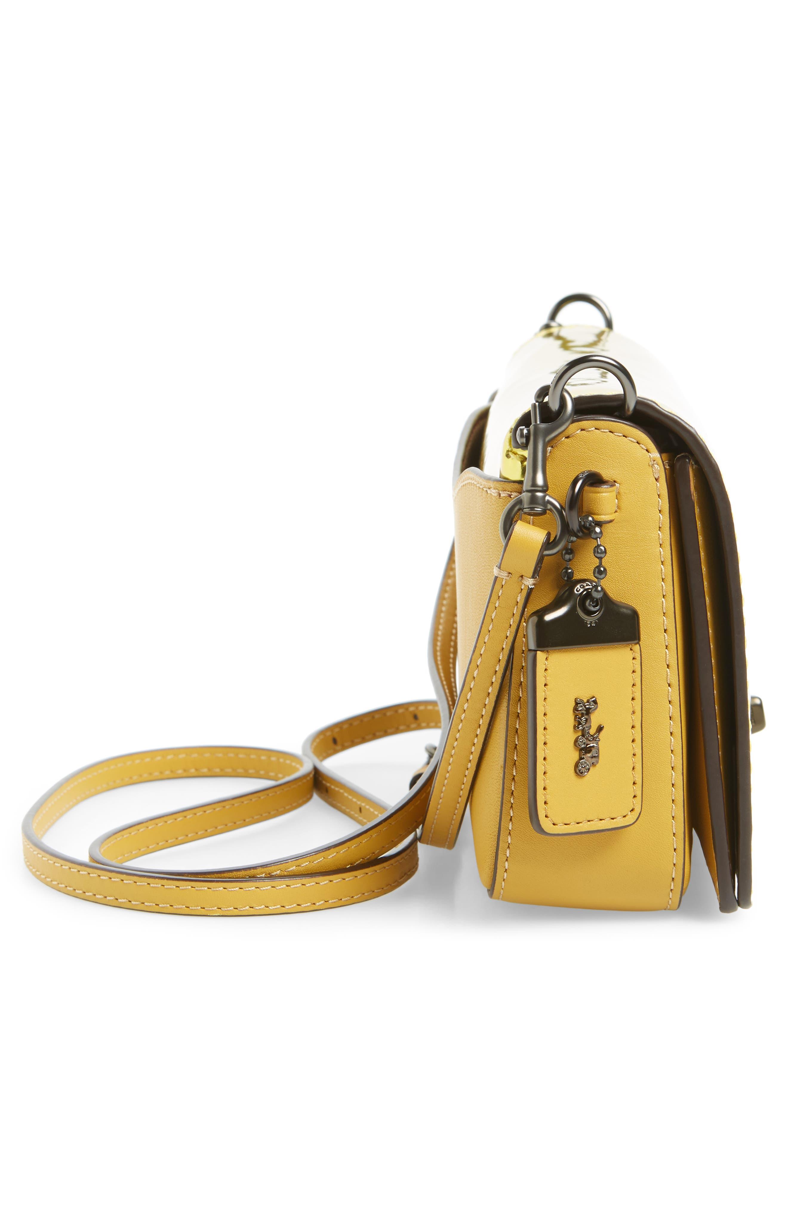 High Shine Dinky Metallic Leather Crossbody Bag,                             Alternate thumbnail 5, color,                             700