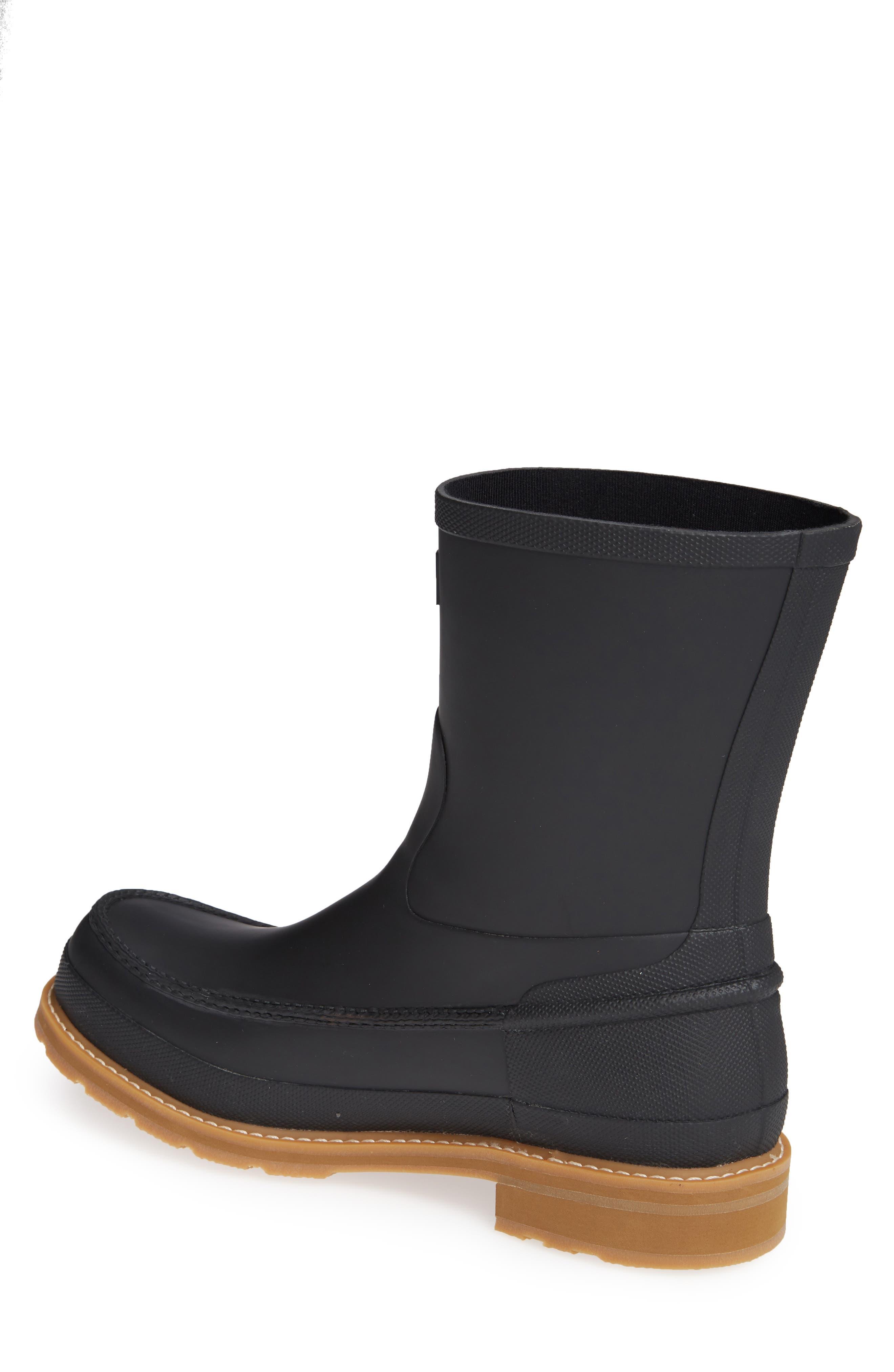 HUNTER,                             Waterproof Lightweight Short Boot,                             Alternate thumbnail 2, color,                             BLACK