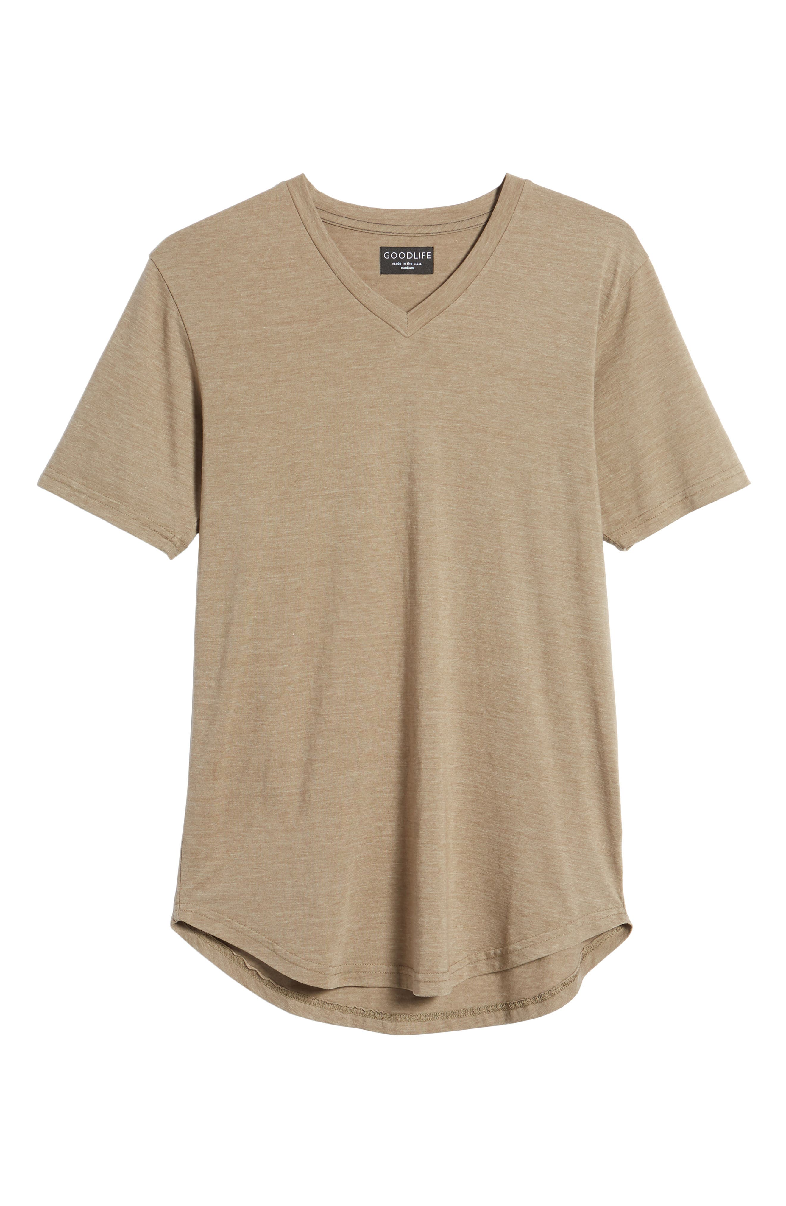 Scallop Triblend V-Neck T-Shirt,                             Alternate thumbnail 117, color,