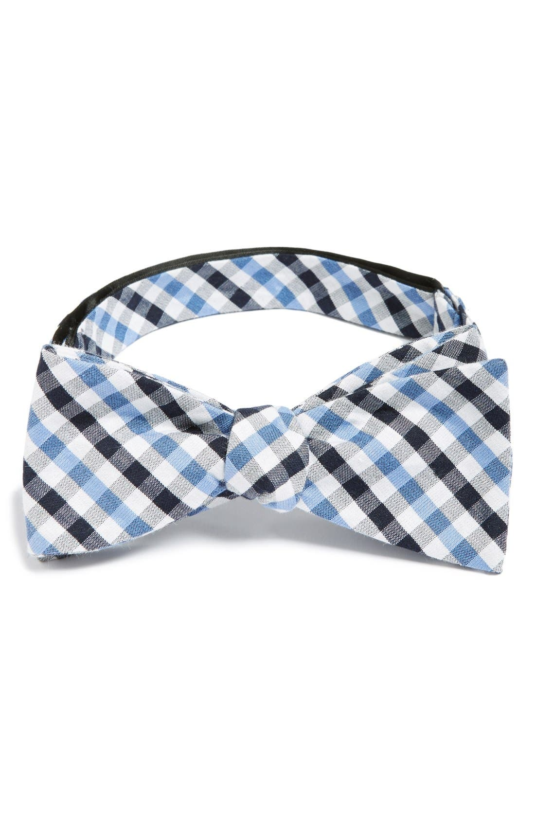 'Bloomquist' Check Silk Blend Bow Tie,                         Main,                         color, 400