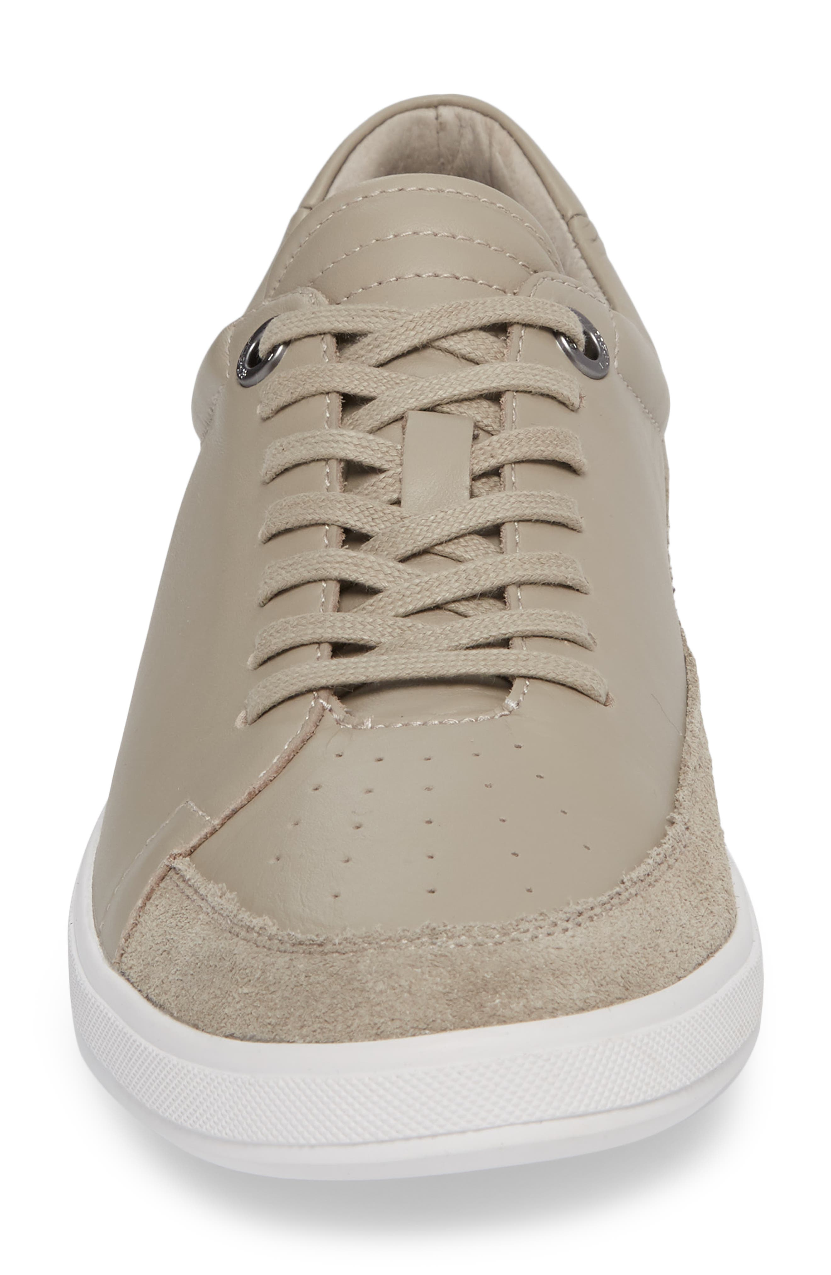 Joe Classic Low Top Sneaker,                             Alternate thumbnail 4, color,                             STONE LEATHER