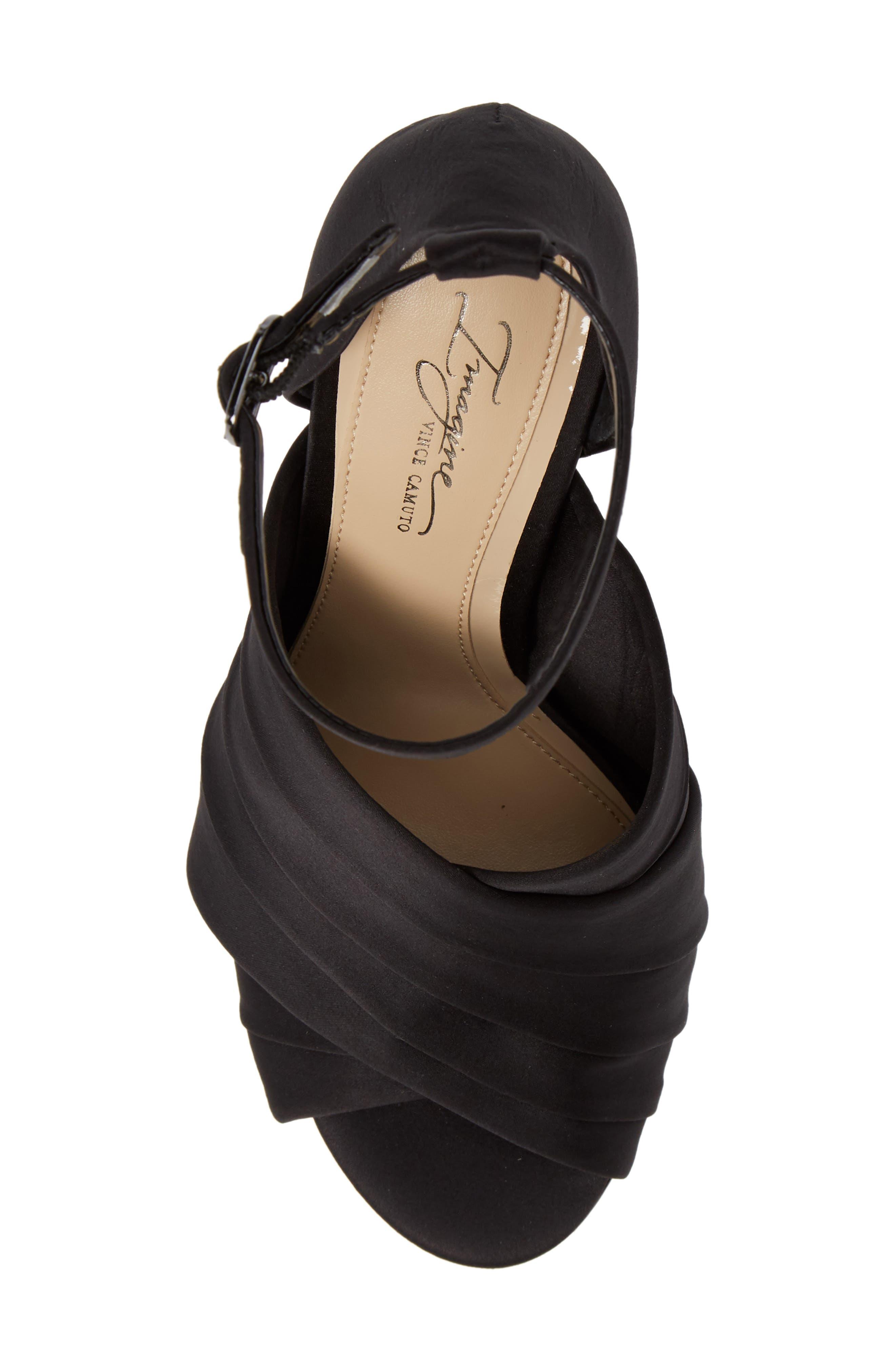 Rander Sandal,                             Alternate thumbnail 5, color,                             BLACK SATIN