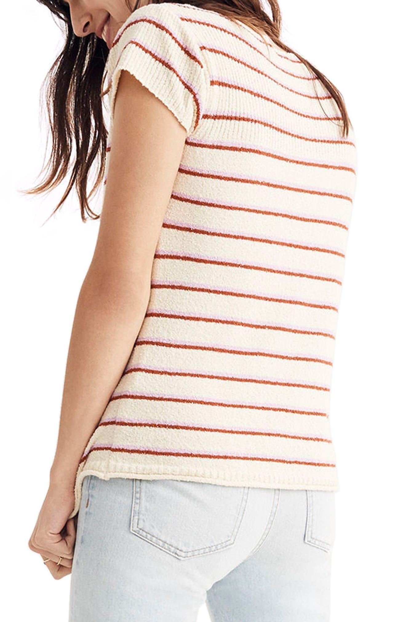 Marin Stripe Sweater Tee,                             Alternate thumbnail 2, color,                             100