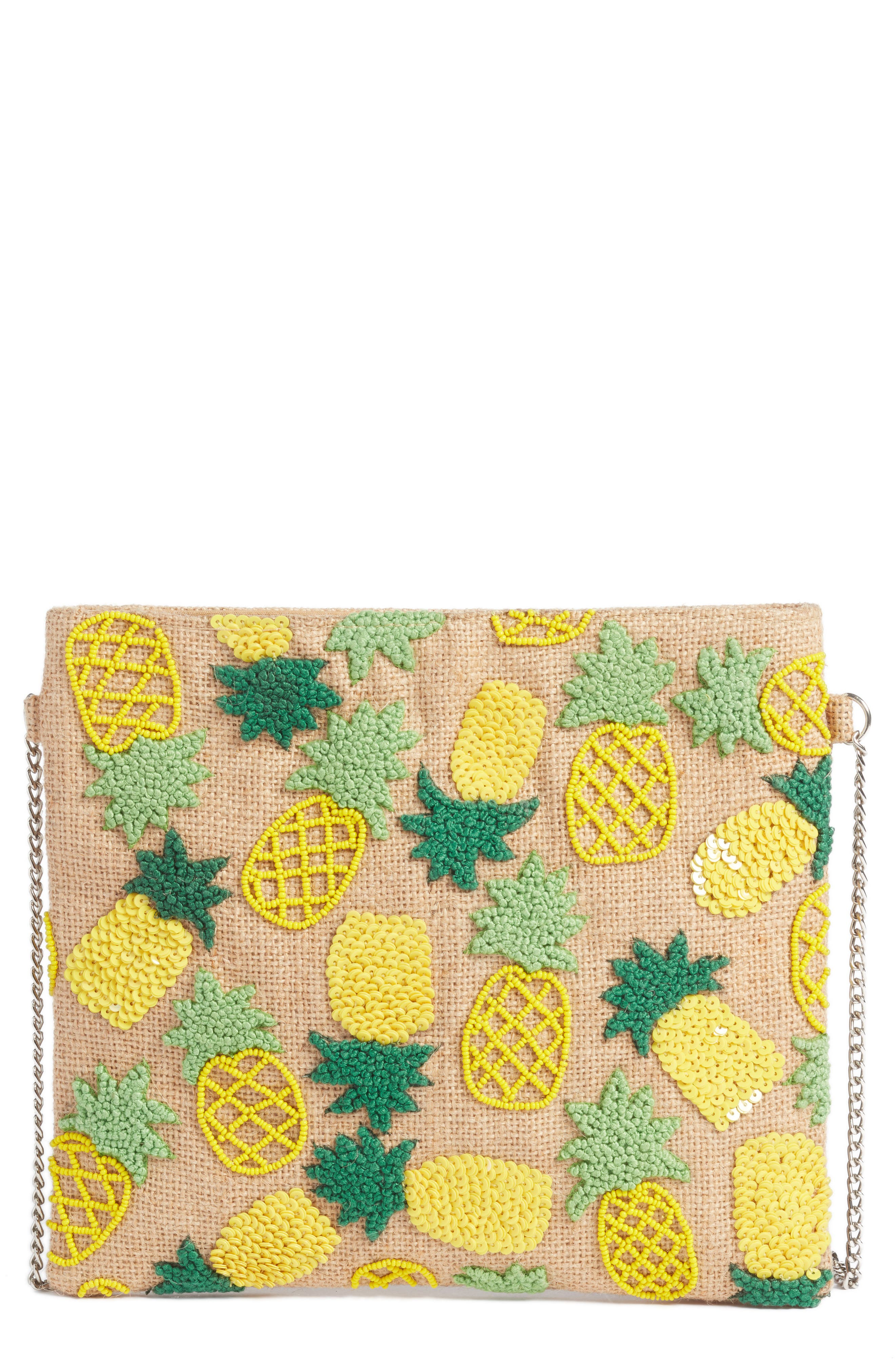AREA STARS Pineapple Crossbody Bag - Pink in Natural