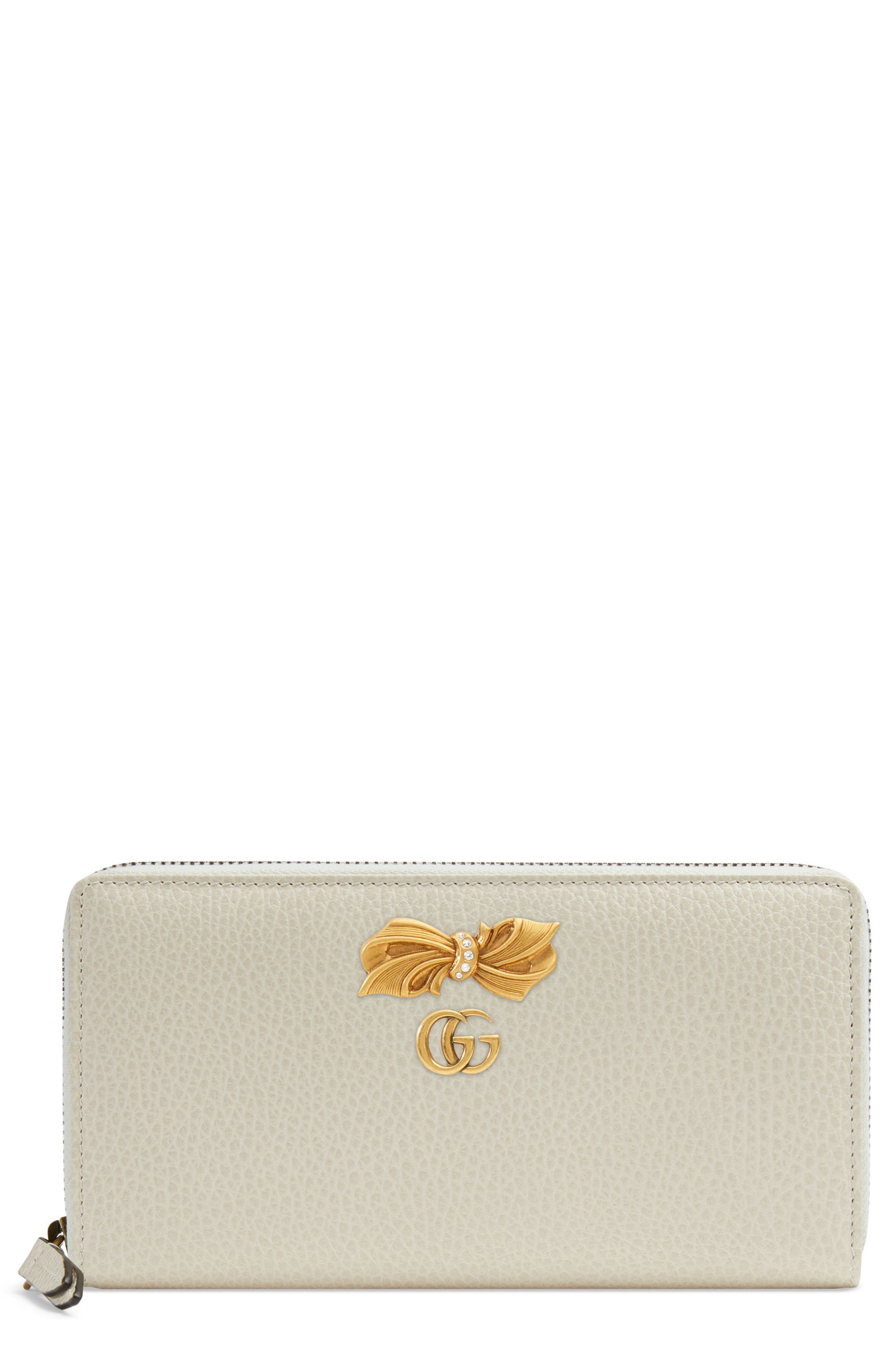 Linea Fioccino Leather Continental Wallet,                         Main,                         color, MYSTIC WHITE/ PINK/ CRYSTAL