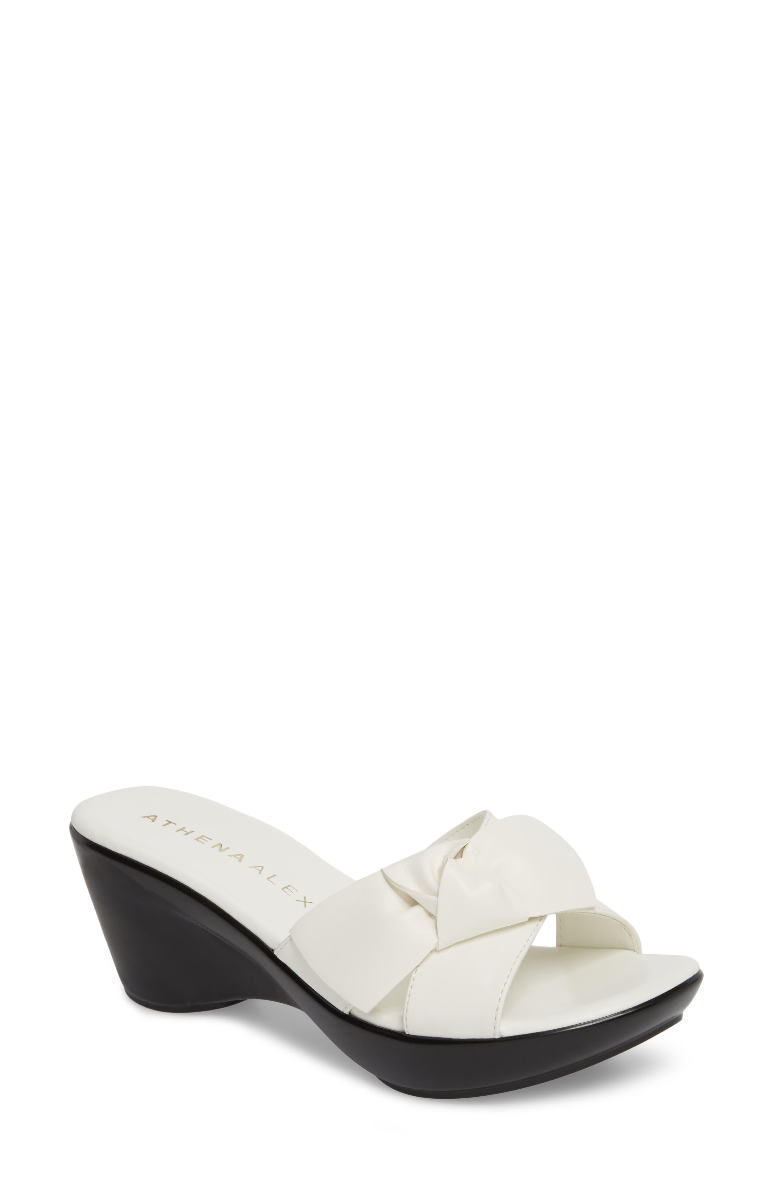 Athena Alexander Giada Wedge Sandal, White