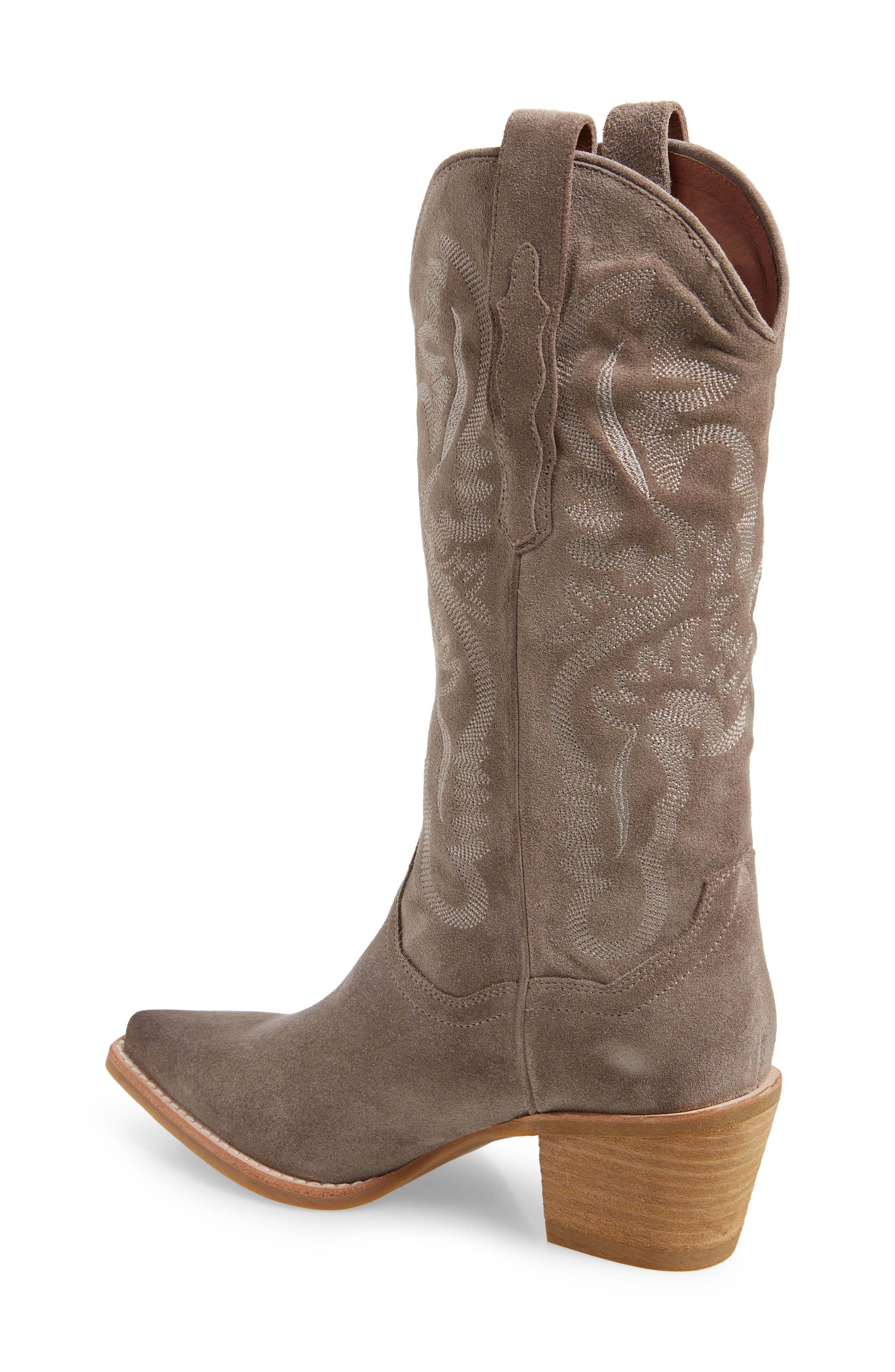 Dagget Western Boot,                             Alternate thumbnail 2, color,                             TAUPE SUEDE