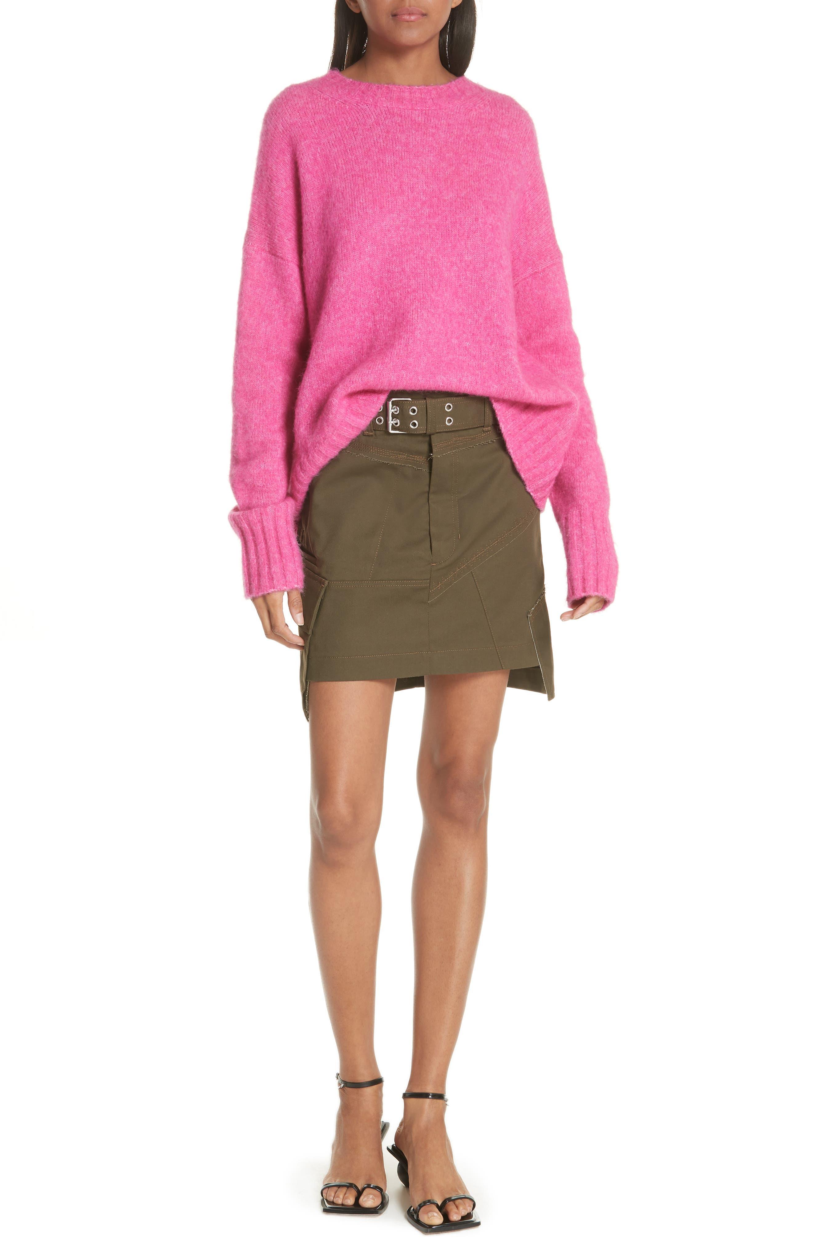 Wool & Alpaca Blend Sweater,                             Alternate thumbnail 7, color,                             653