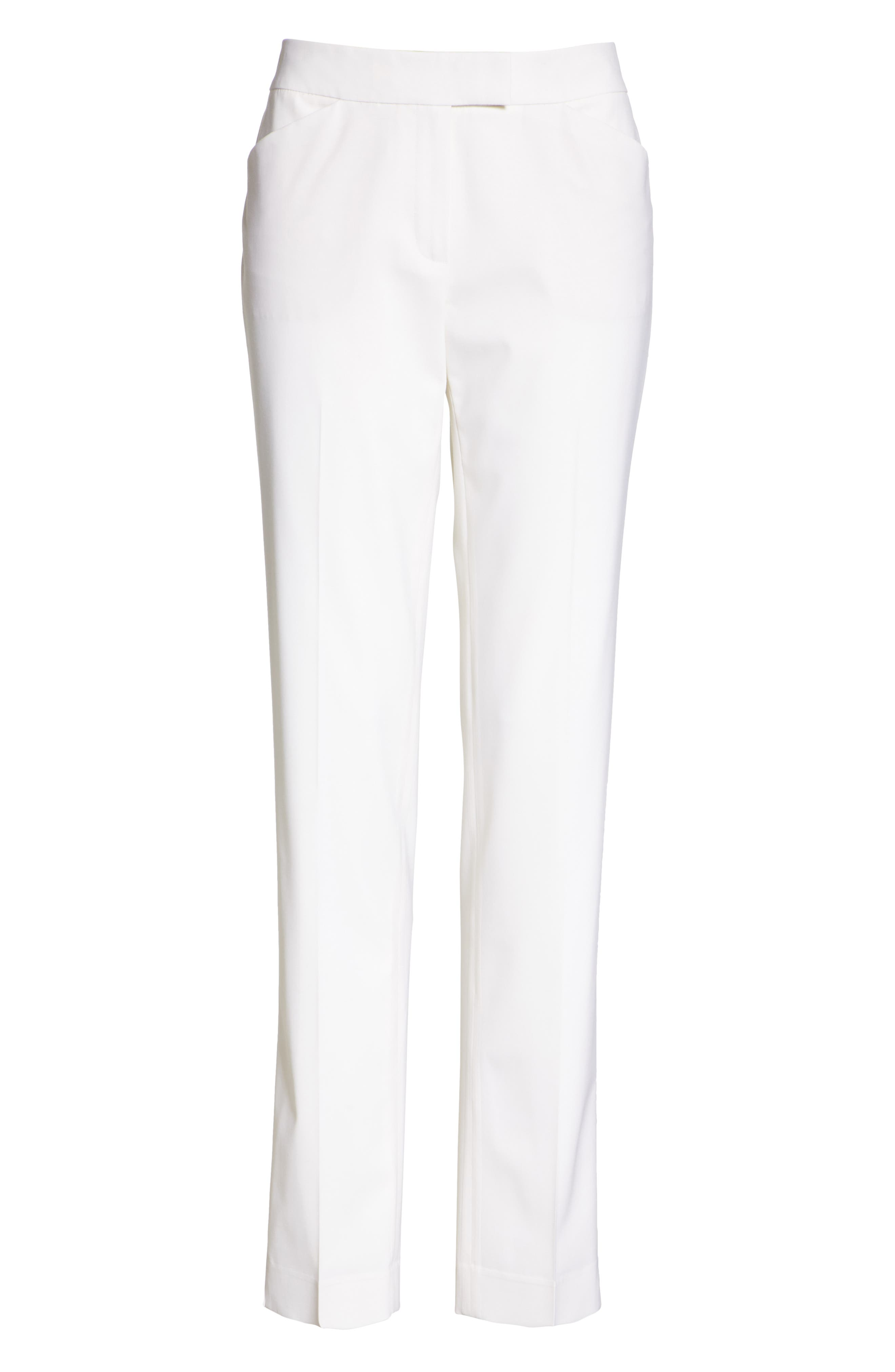 Irving Stretch Wool Pants,                             Alternate thumbnail 8, color,                             IVORY