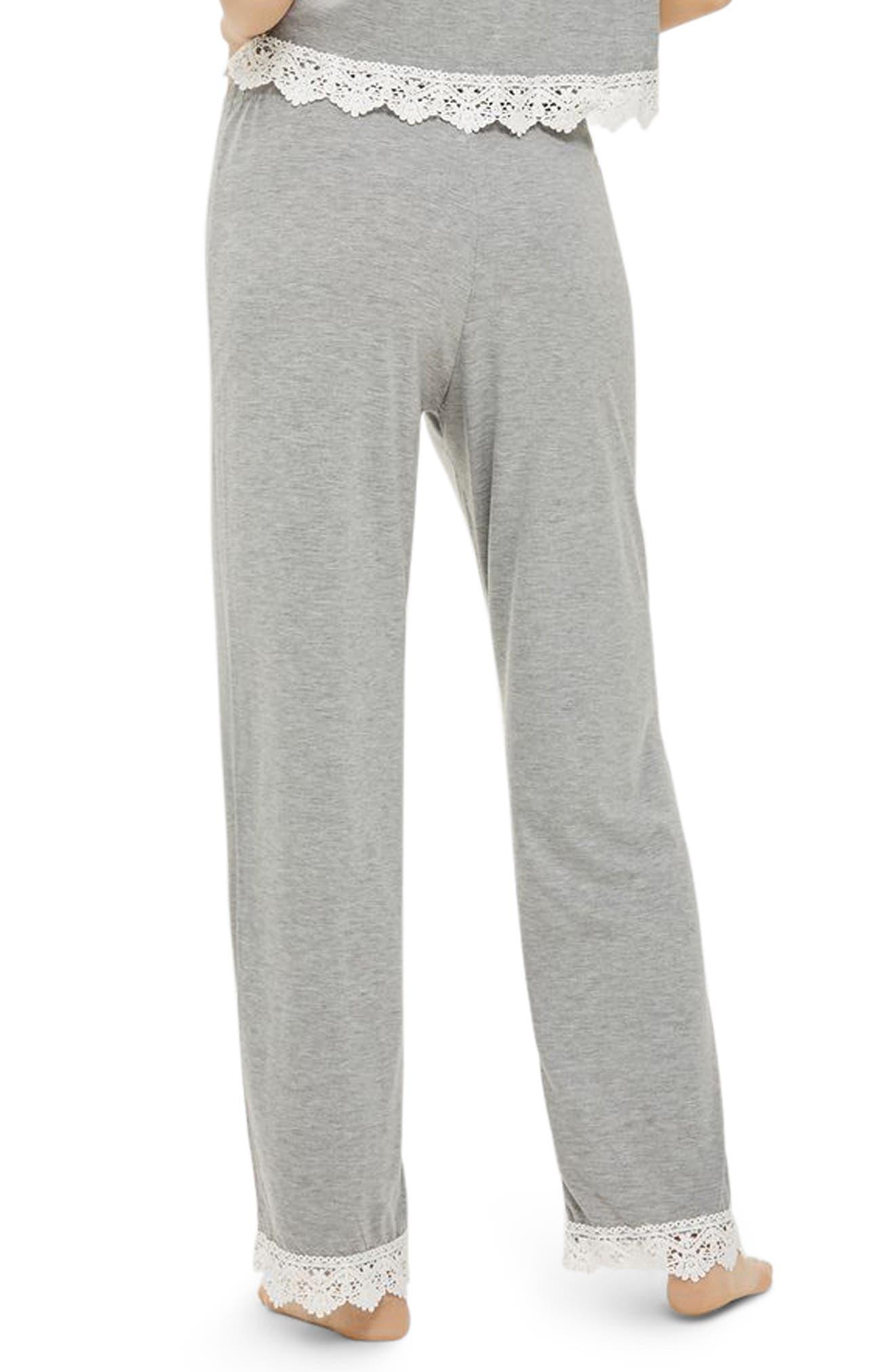 Crochet Trim Pajama Pants,                             Alternate thumbnail 2, color,                             020