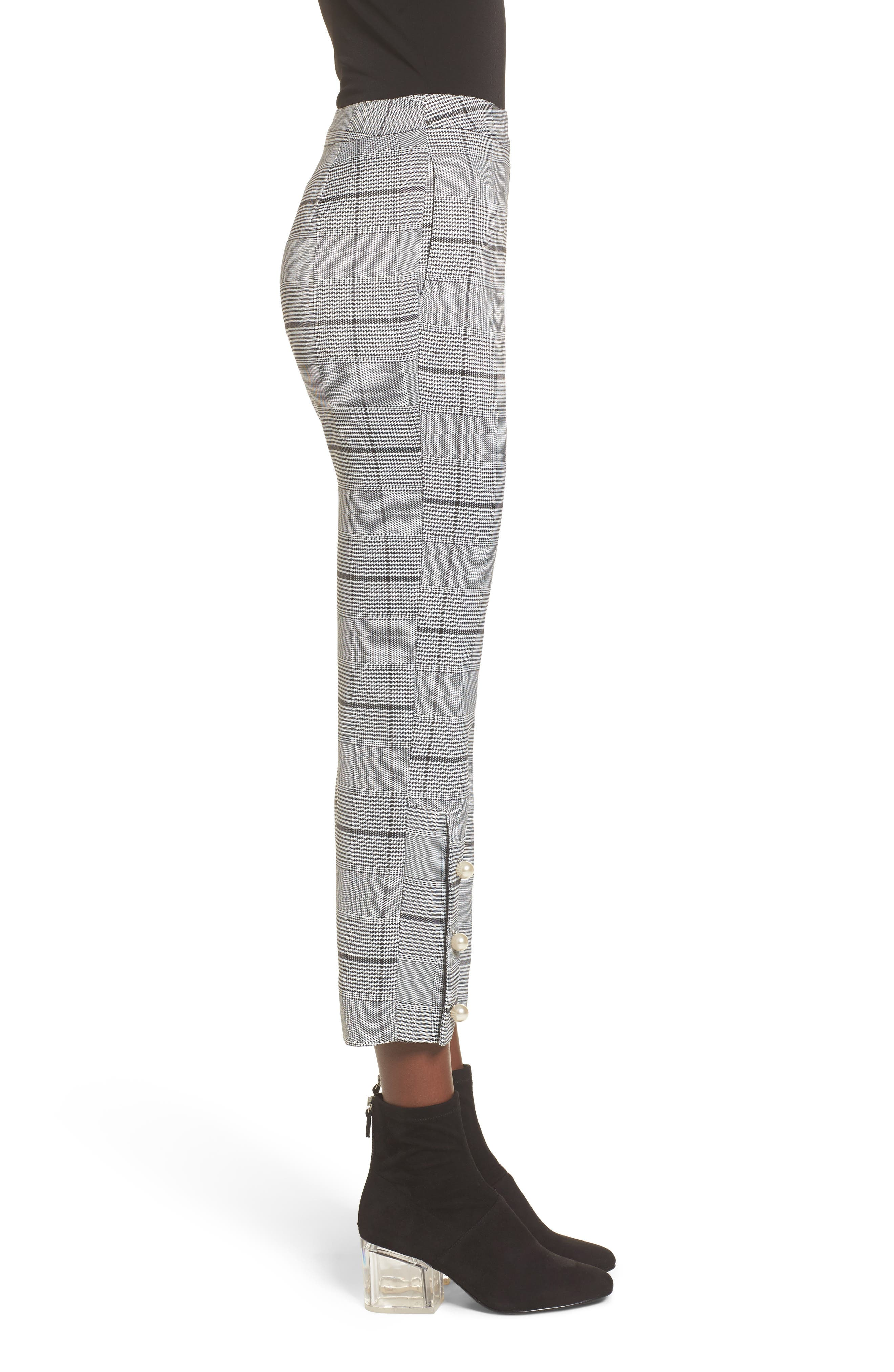 Crop Plaid Pants,                             Alternate thumbnail 3, color,