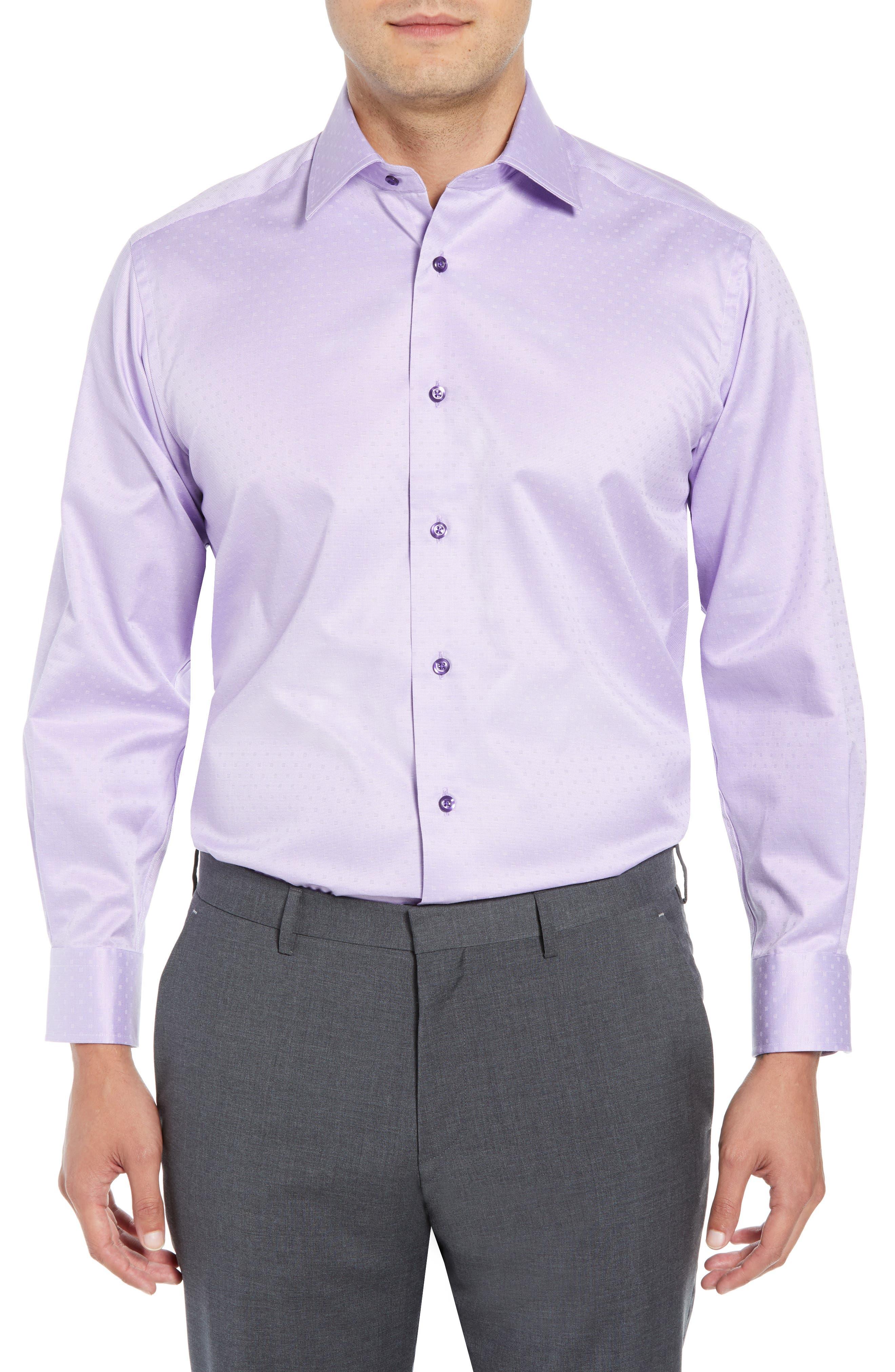 Regular Fit Solid Dress Shirt,                             Main thumbnail 1, color,                             LILAC
