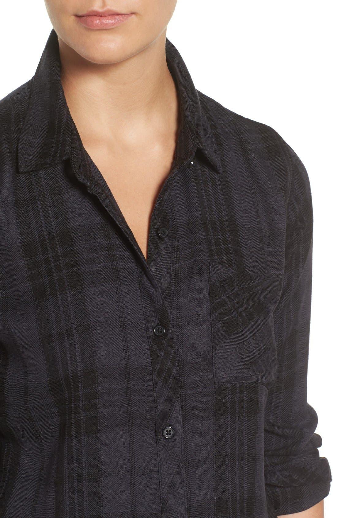 Hunter Plaid Shirt,                             Alternate thumbnail 636, color,