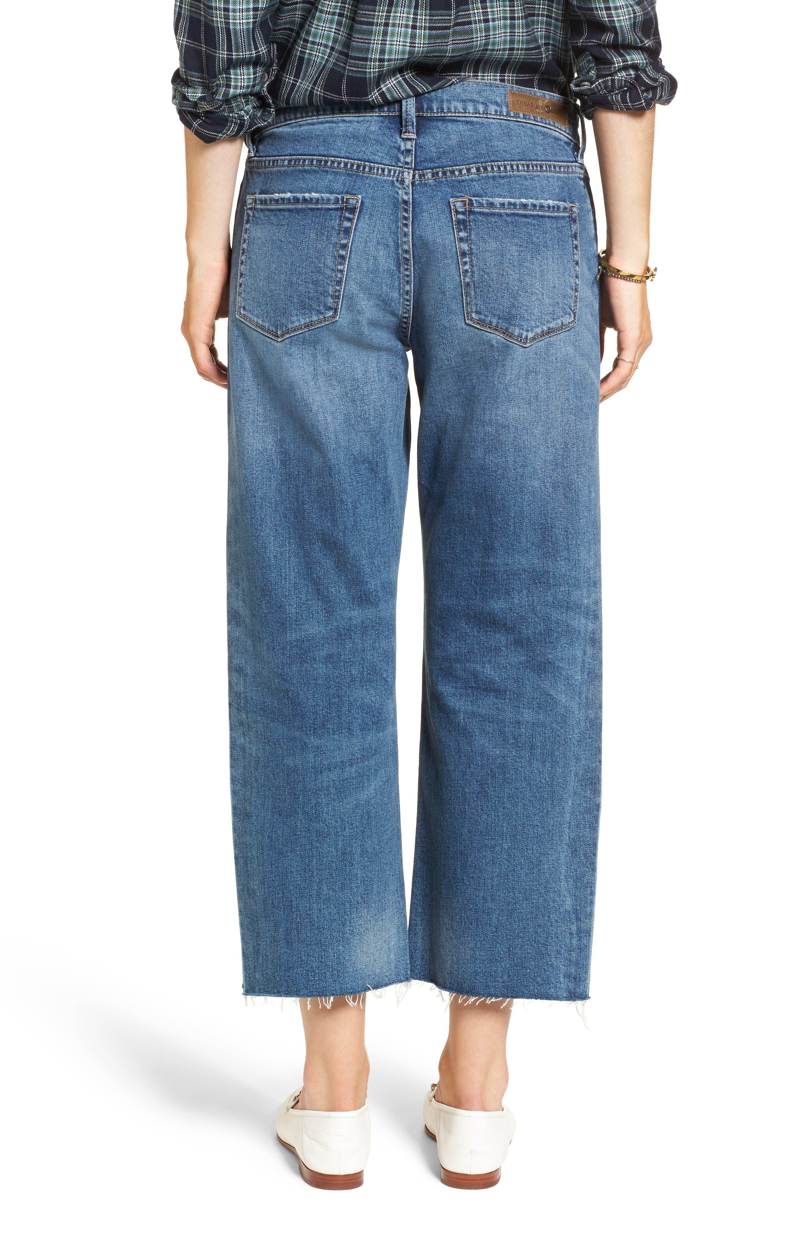 Shelter Wide Leg Crop Jeans,                             Alternate thumbnail 2, color,