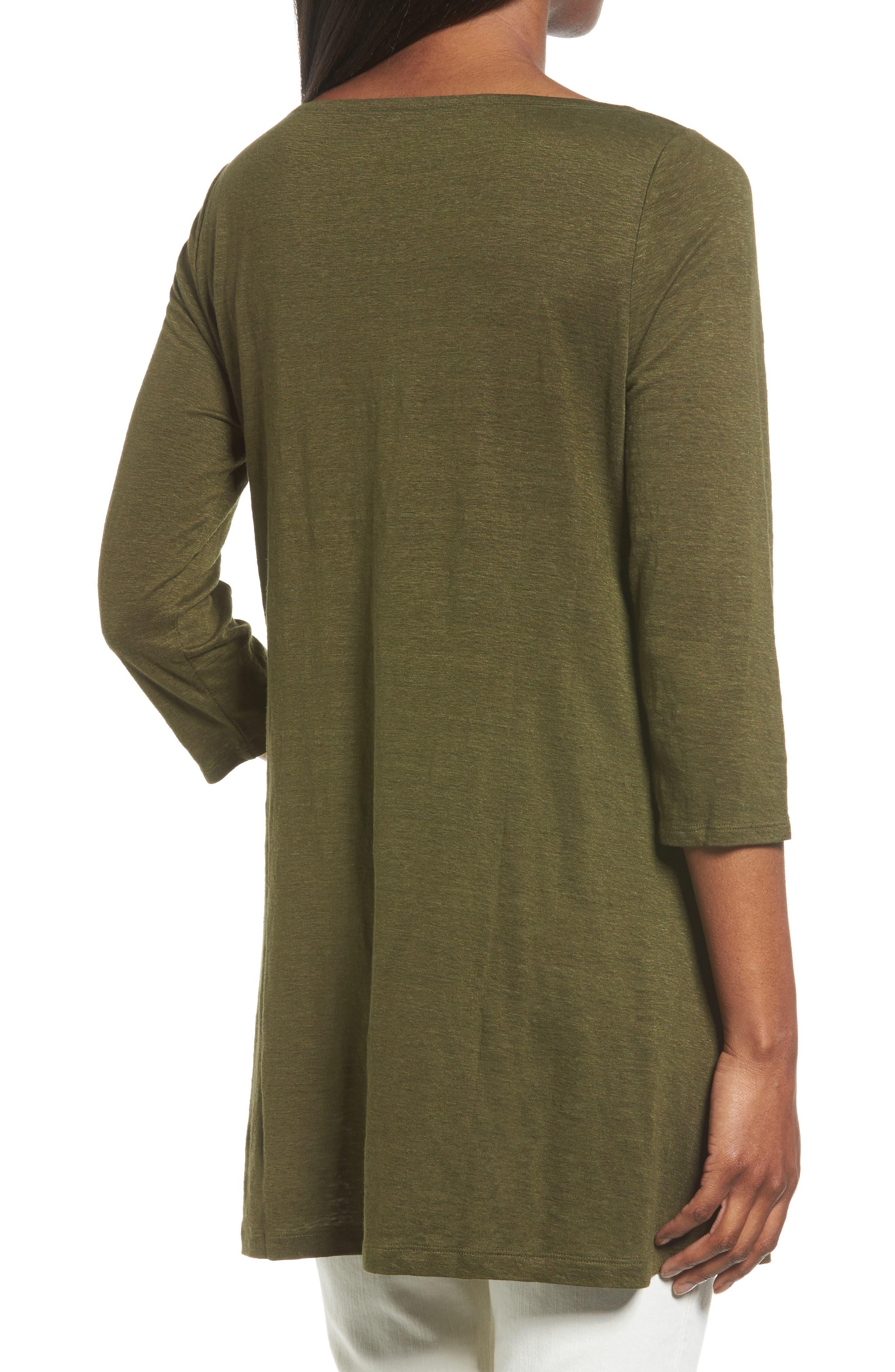 Bateau Neck Organic Linen Tunic,                             Alternate thumbnail 21, color,