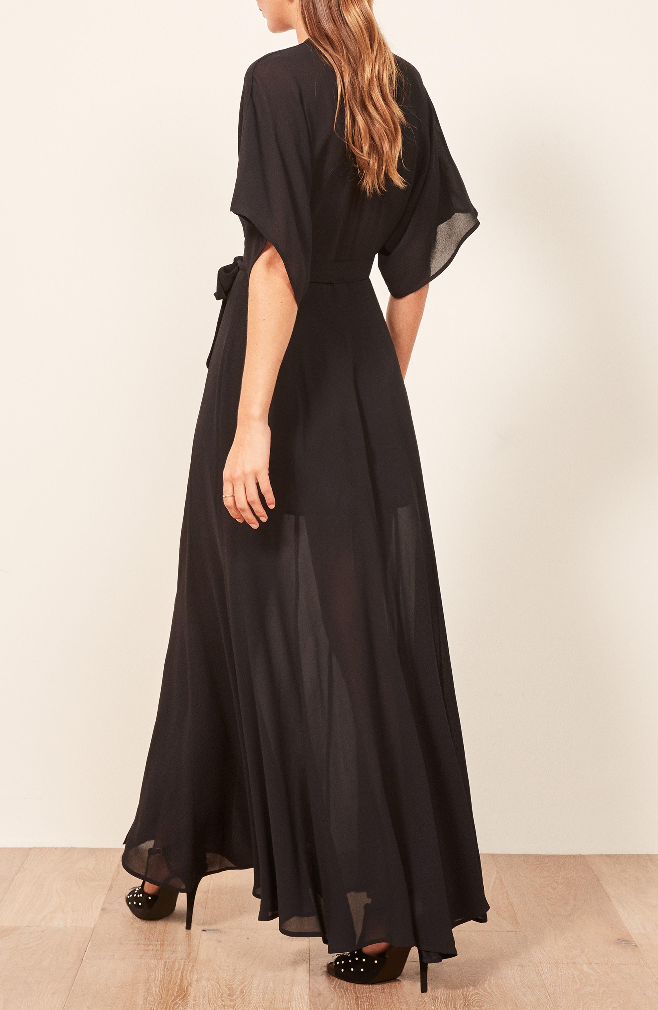 Winslow Maxi Dress,                             Alternate thumbnail 3, color,                             BLACK