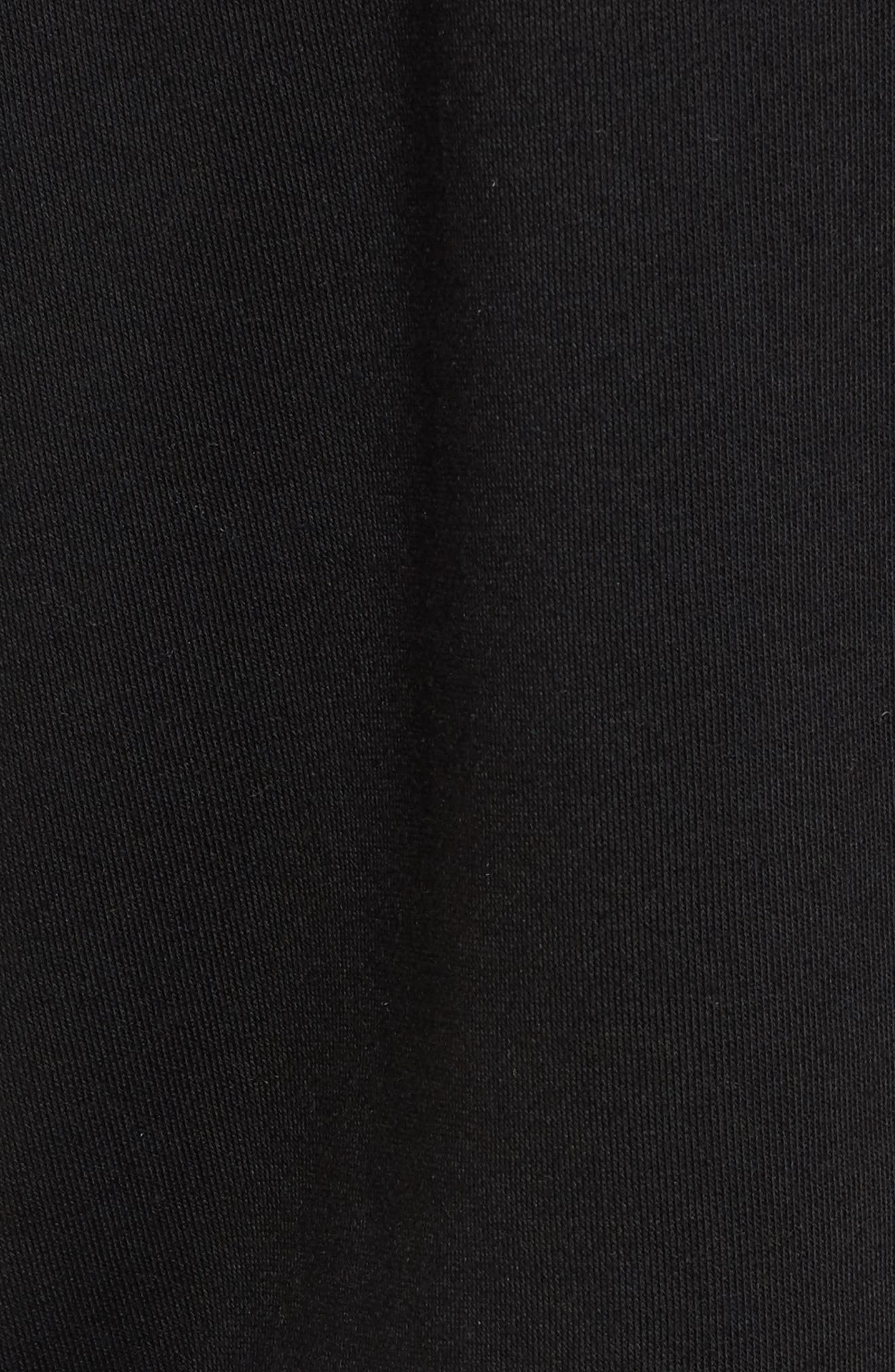 One-Shoulder Ruffle Sweatshirt,                             Alternate thumbnail 5, color,                             001