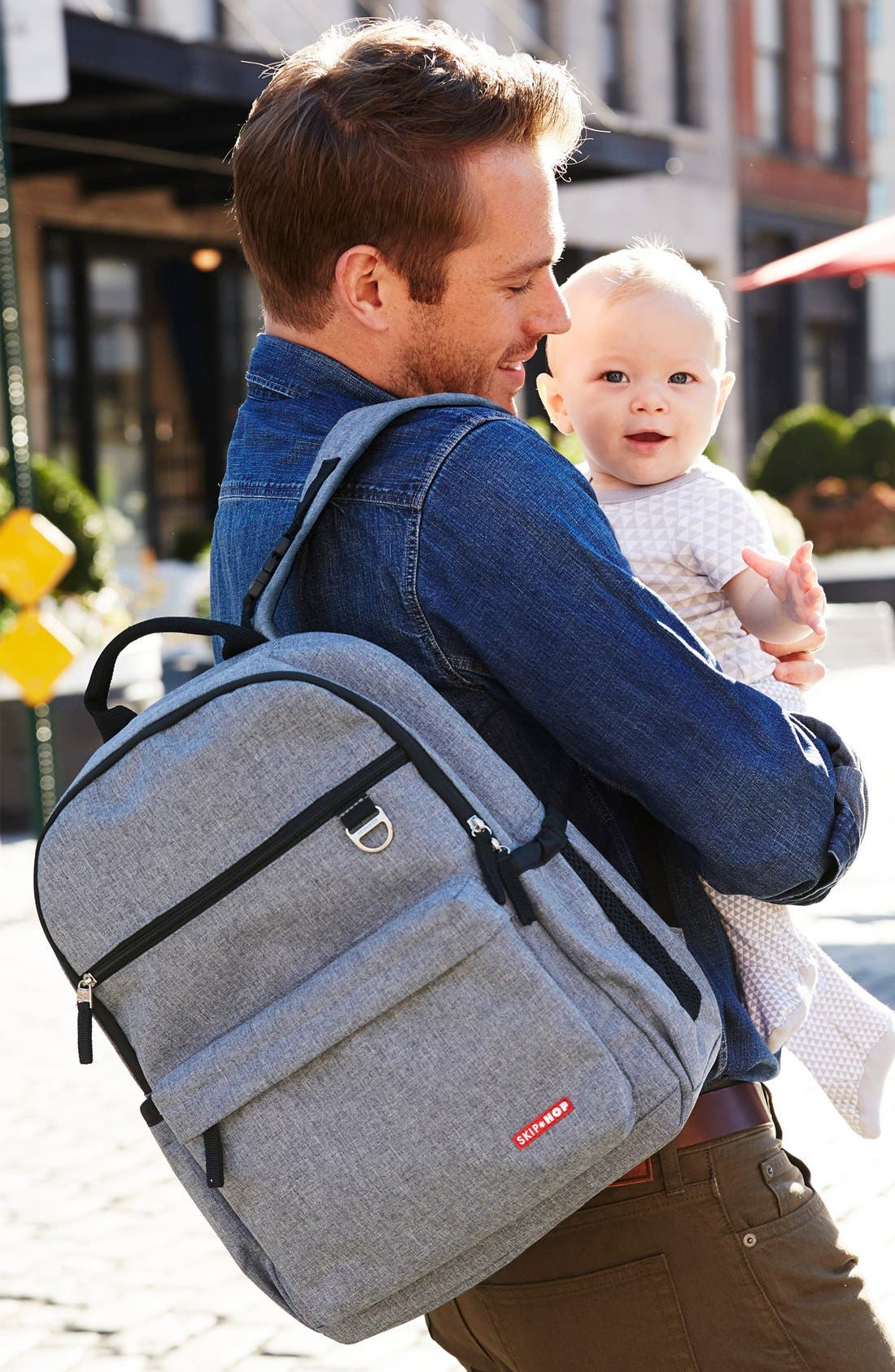 'Duo Signature' Diaper Backpack,                             Alternate thumbnail 9, color,