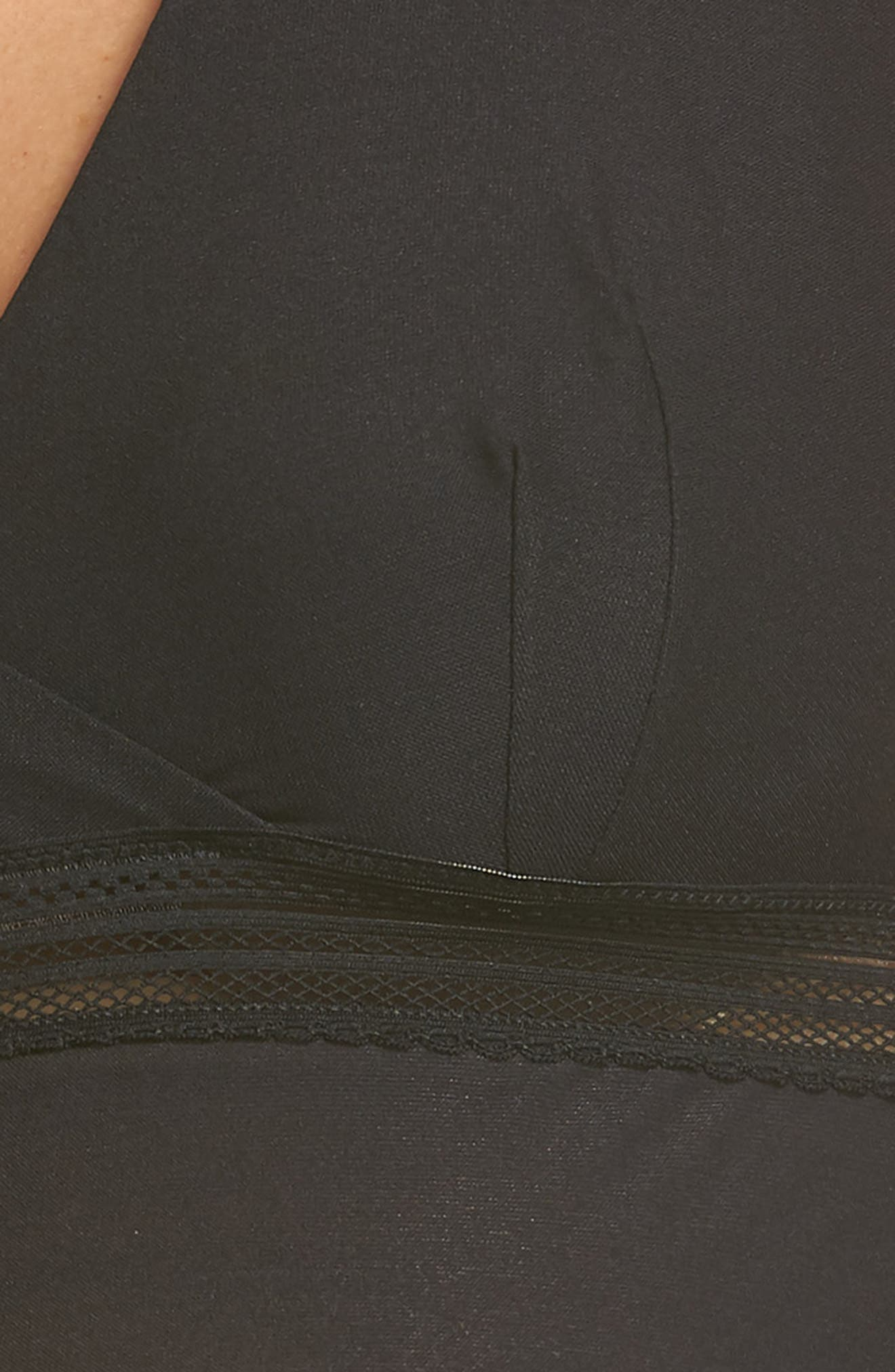 Laced In Aire Camisole,                             Alternate thumbnail 5, color,                             BLACK