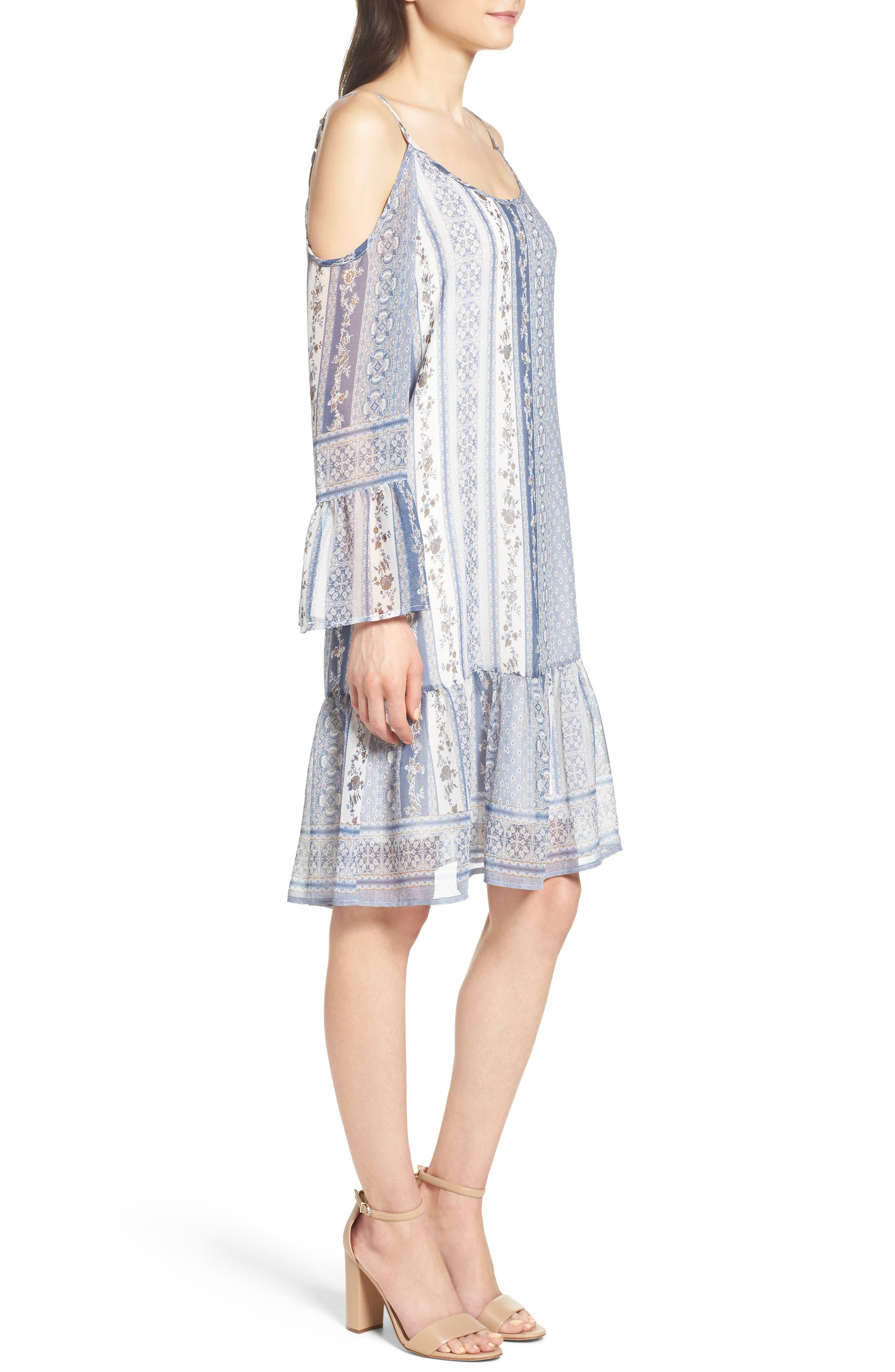 Cold Shoulder Dress,                             Alternate thumbnail 3, color,                             450