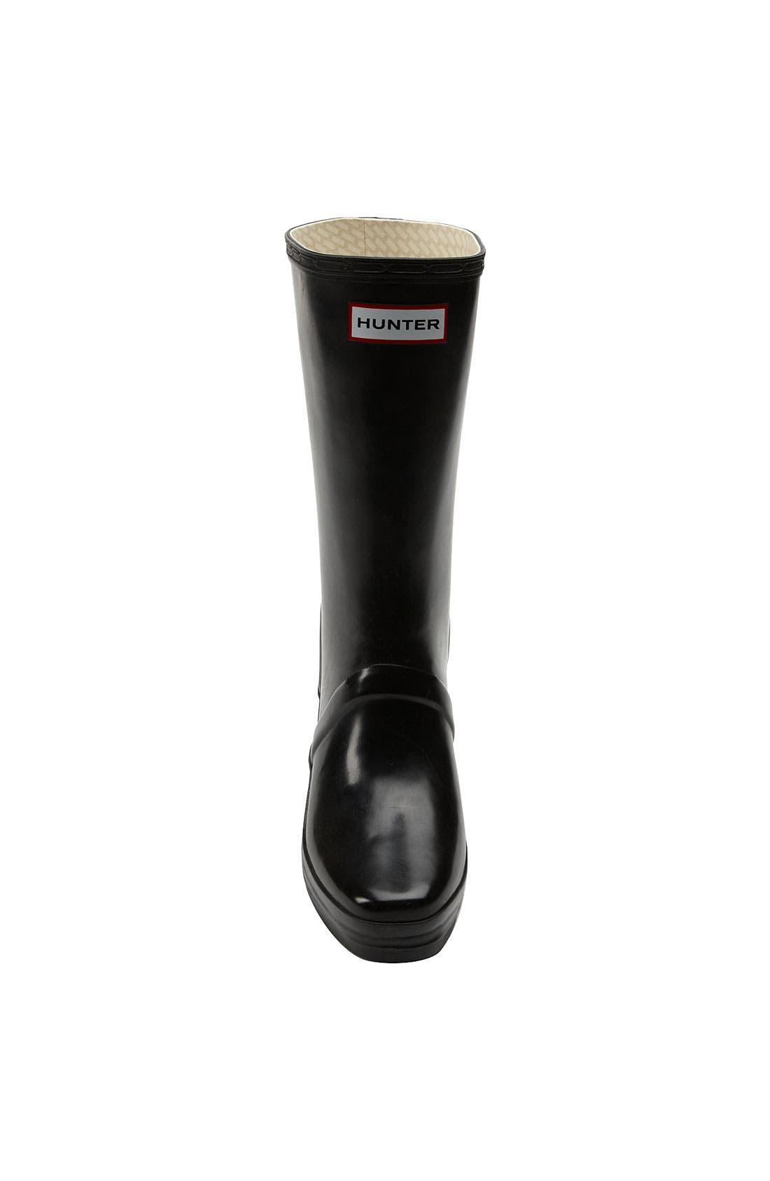 HUNTER,                             'Verbier' Rain Boot,                             Alternate thumbnail 2, color,                             001