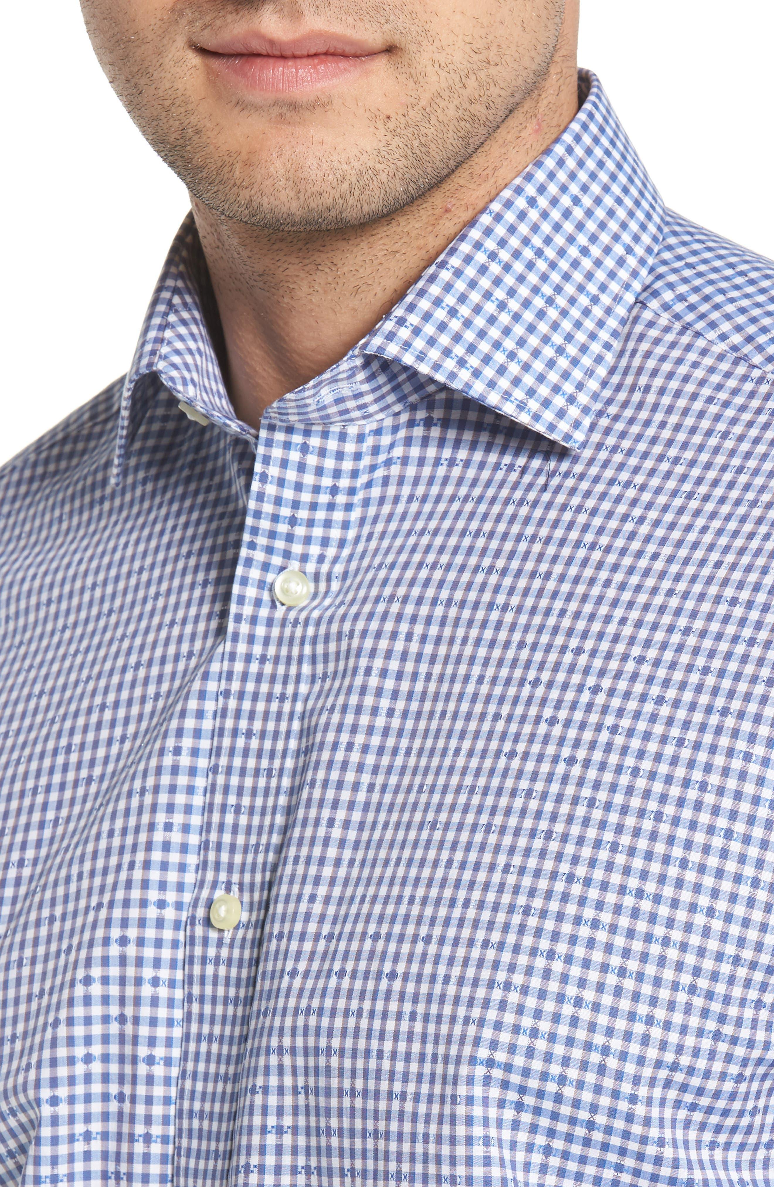 Mini Check Sport Shirt,                             Alternate thumbnail 4, color,                             400