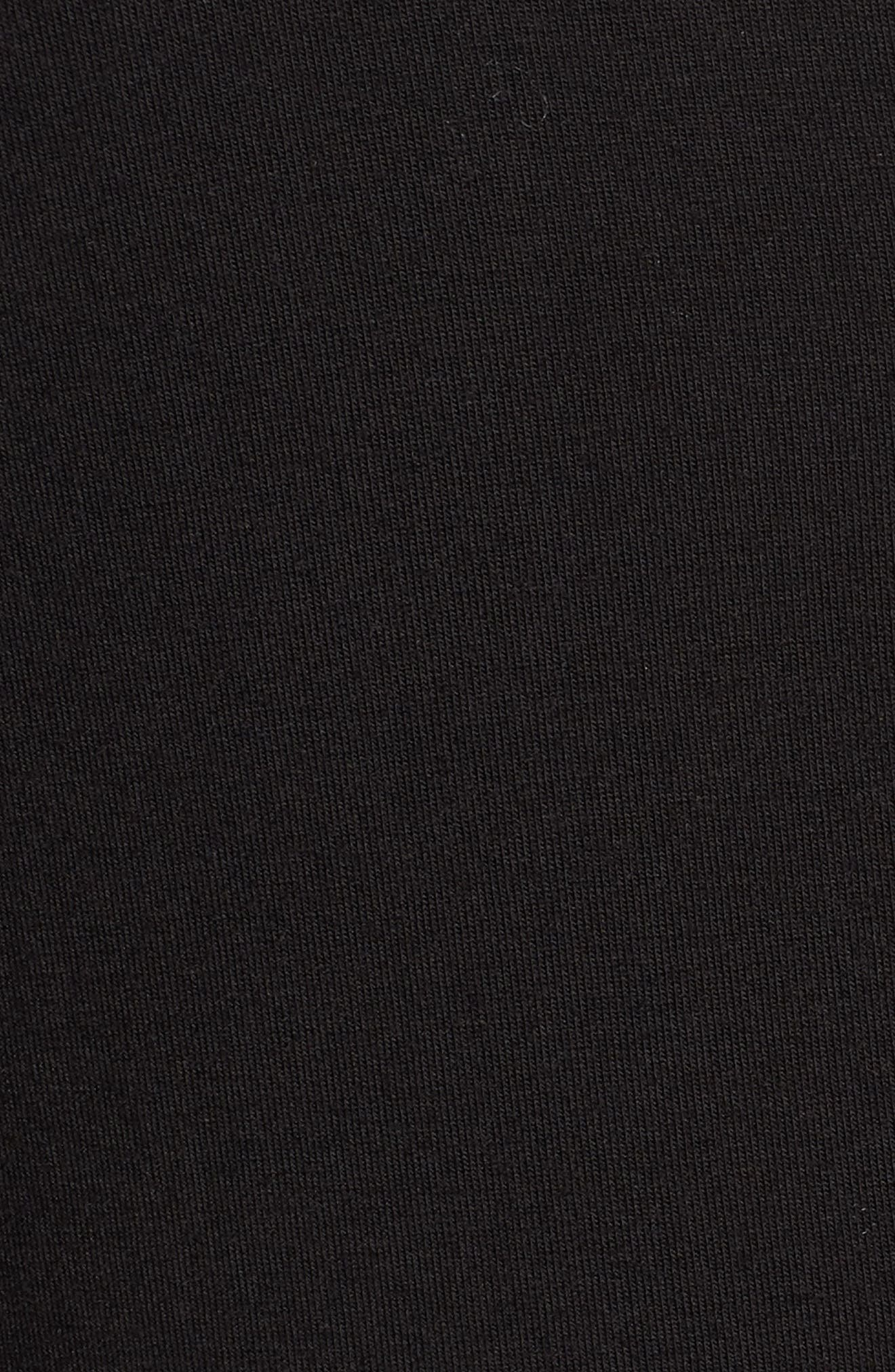 Plunge Tunic,                             Alternate thumbnail 5, color,                             BLACK