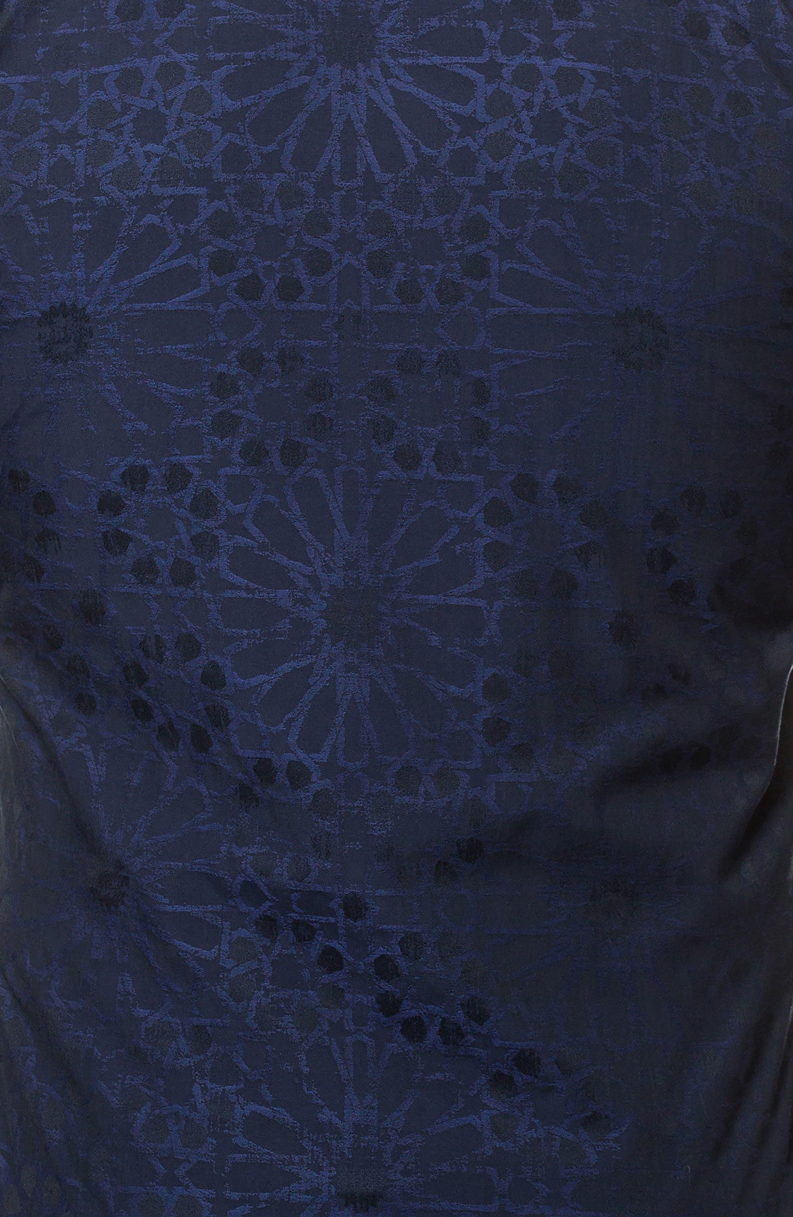 Wall Street Starboy Blue Slim Fit Sport Shirt,                             Alternate thumbnail 3, color,