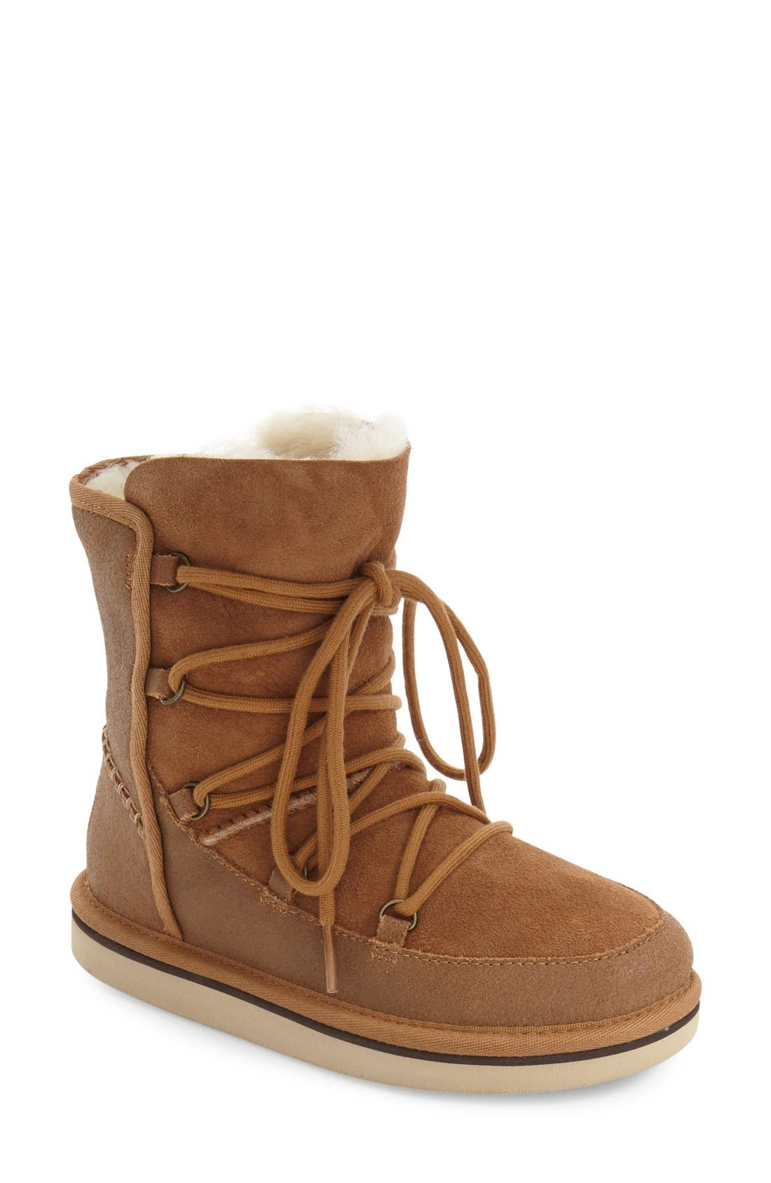 Eliss Water Resistant Suede Boot,                             Main thumbnail 3, color,