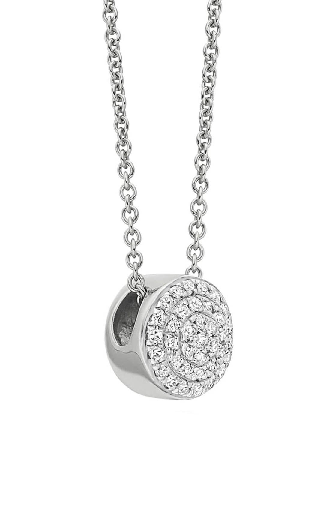 MONICA VINADER,                             Ava Diamond Button Pendant Necklace,                             Alternate thumbnail 2, color,                             SILVER