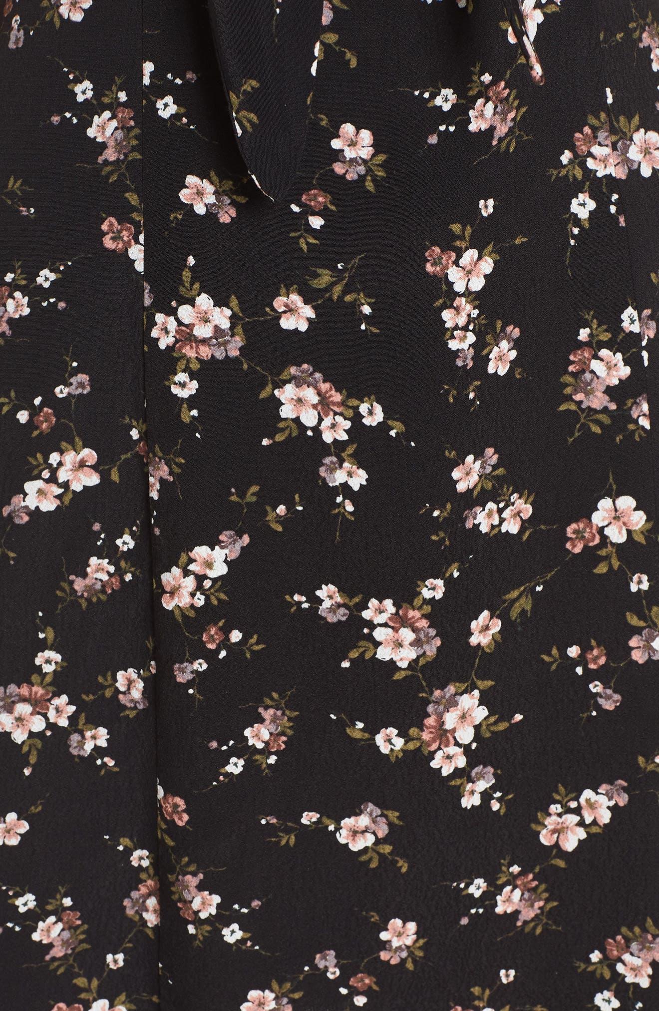 Amelia Cutout Knot Front Dress,                             Alternate thumbnail 6, color,                             008
