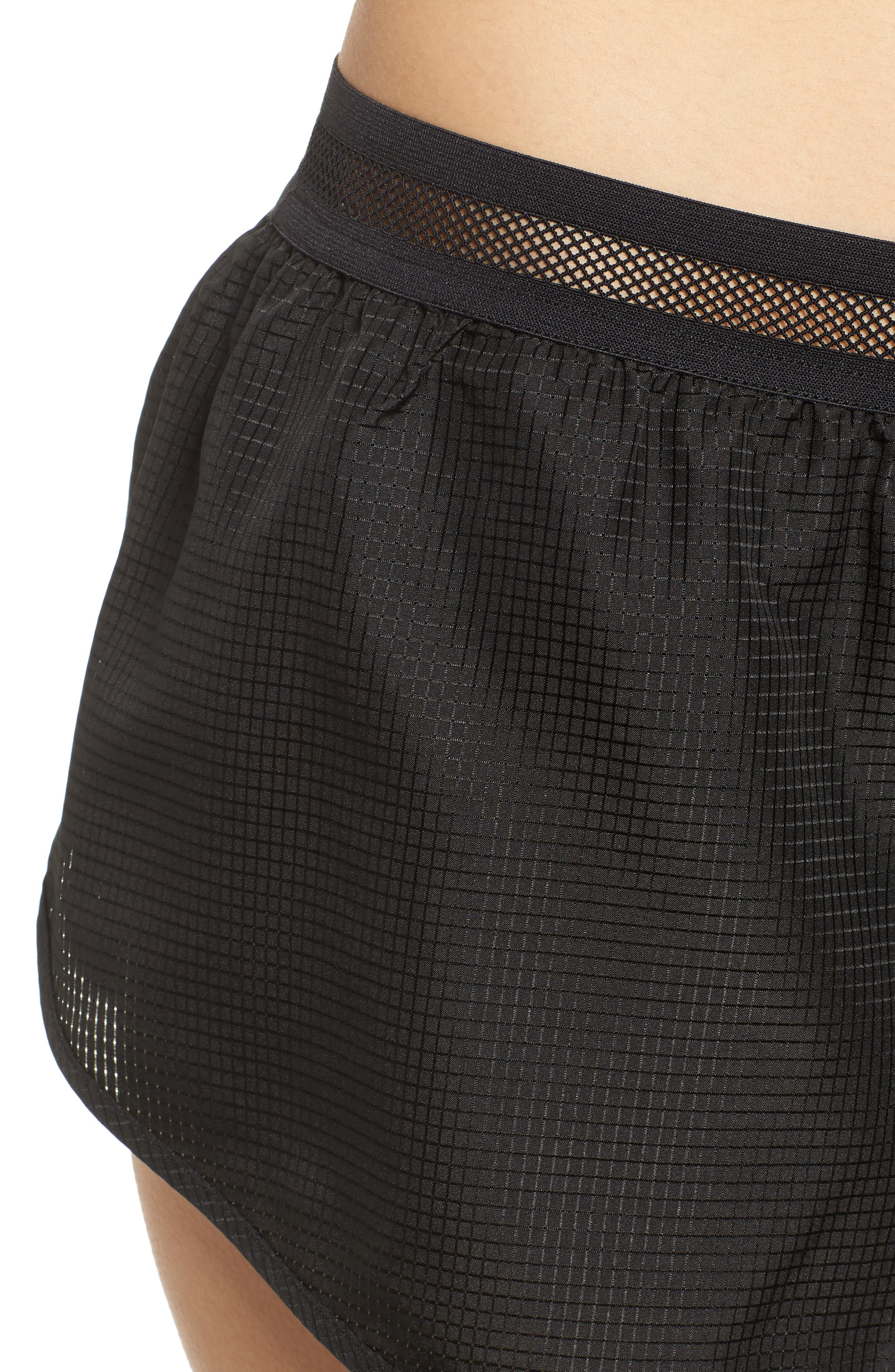 Logo Perforated Runner Shorts,                             Alternate thumbnail 4, color,                             001