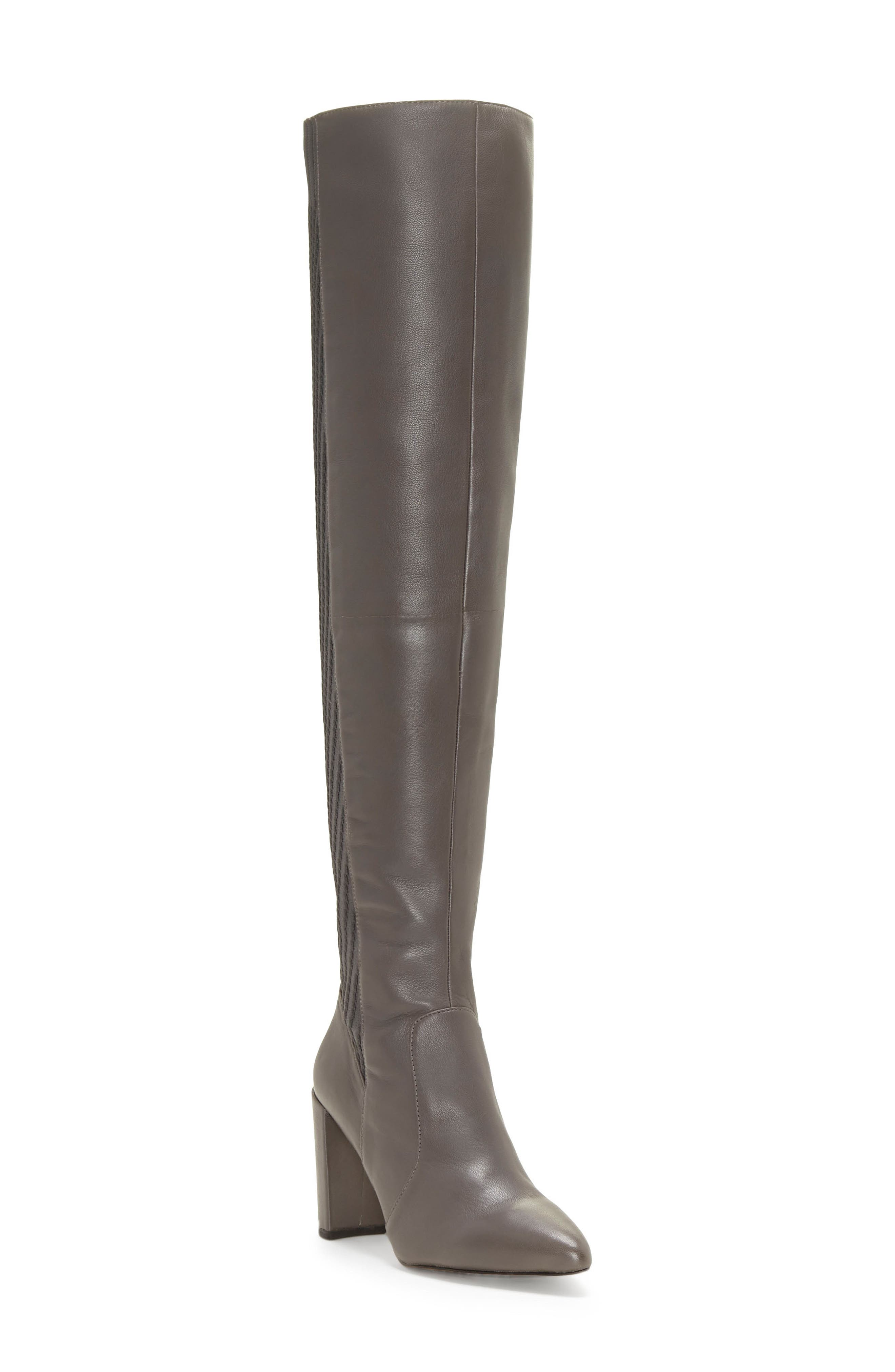 Majestie Over the Knee Boot,                             Main thumbnail 1, color,                             THUNDER LEATHER