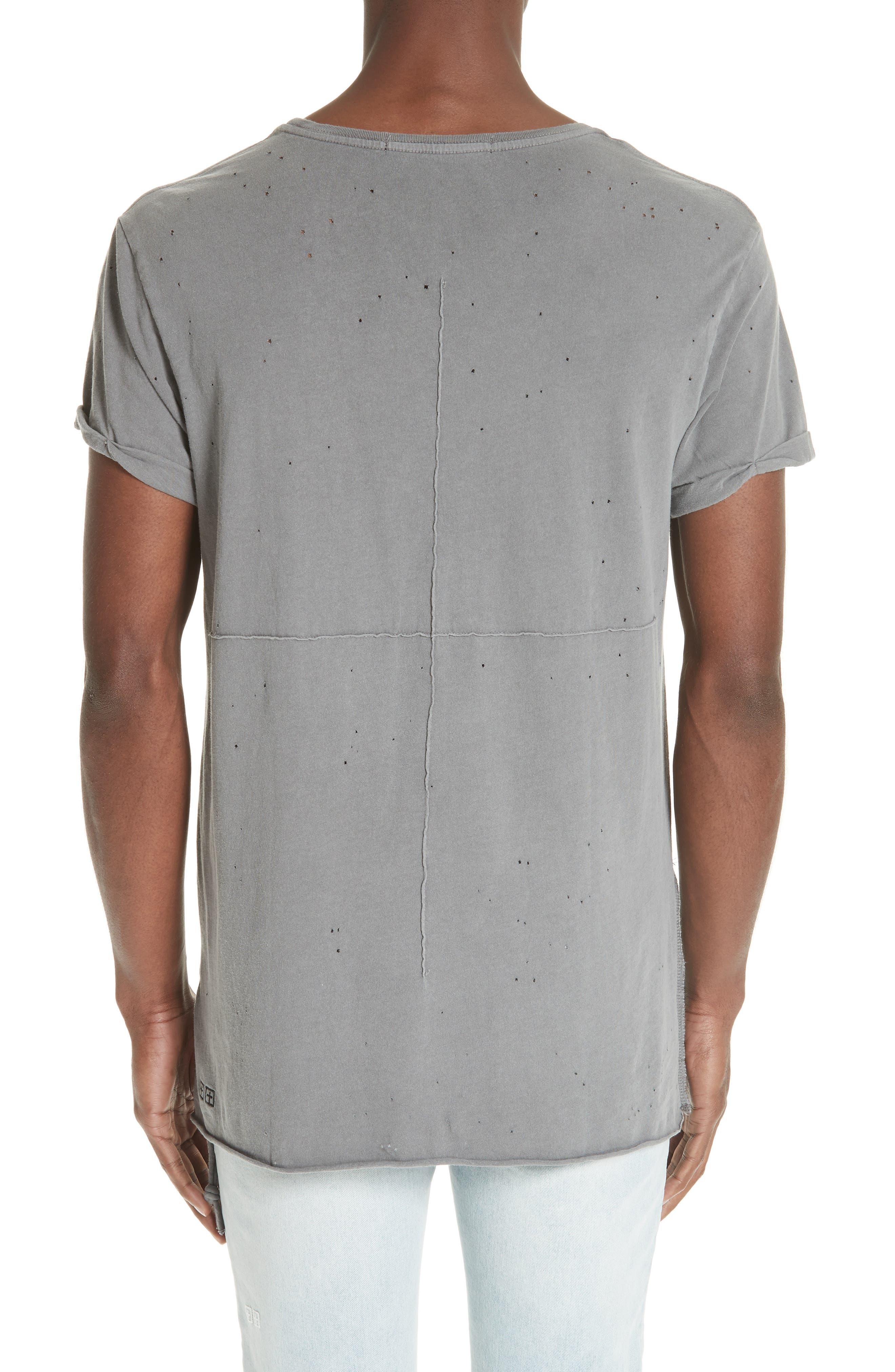 Kodeine Distressed T-Shirt,                             Alternate thumbnail 2, color,                             GREY